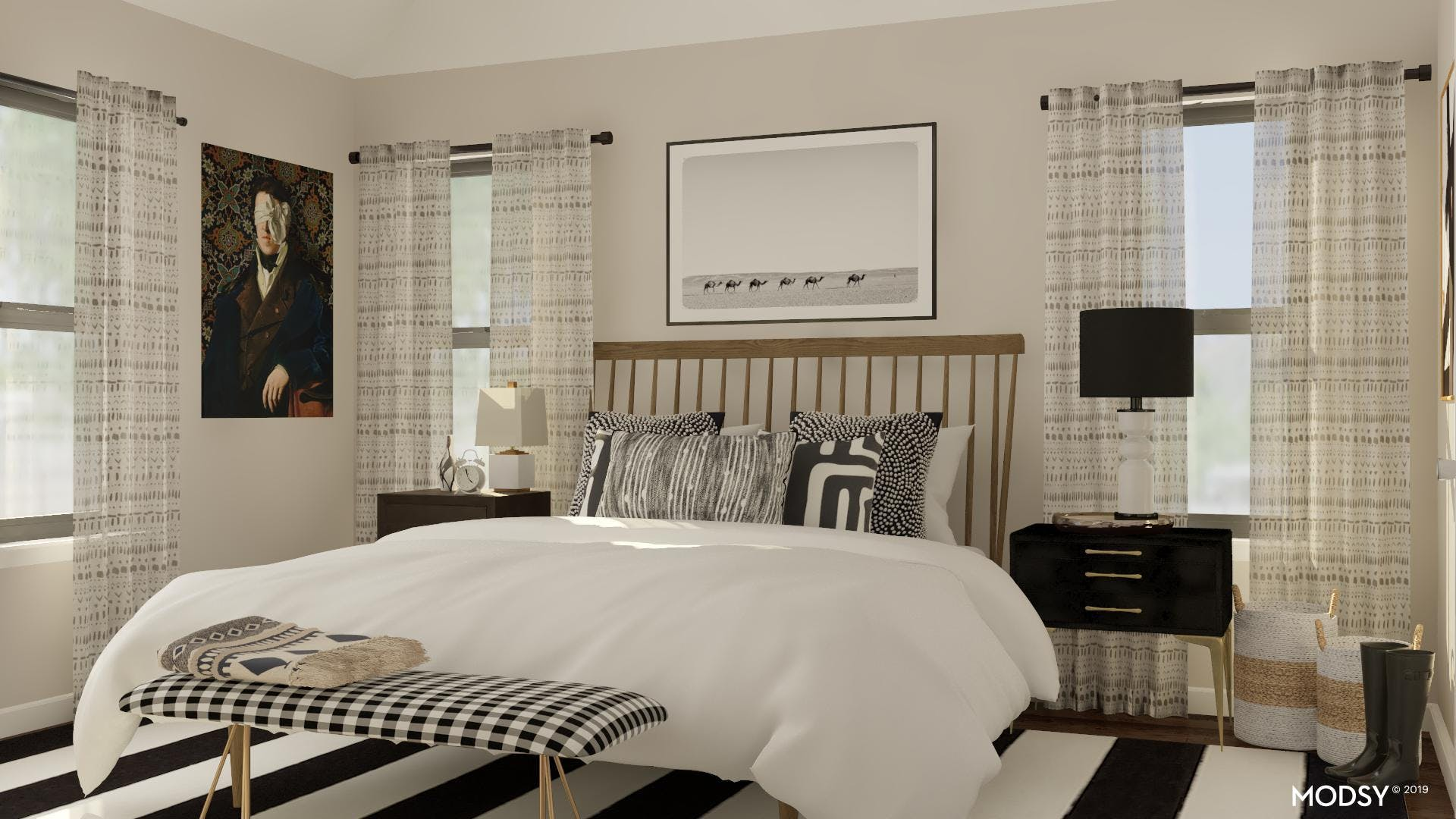 Edgy And Eclectic Master Bedroom