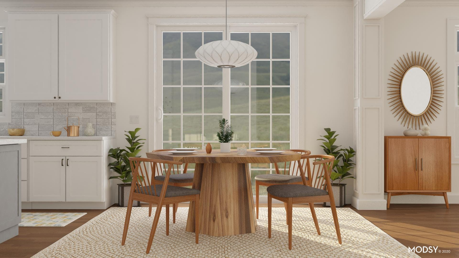 Warm and Welcoming Modern Dining Room