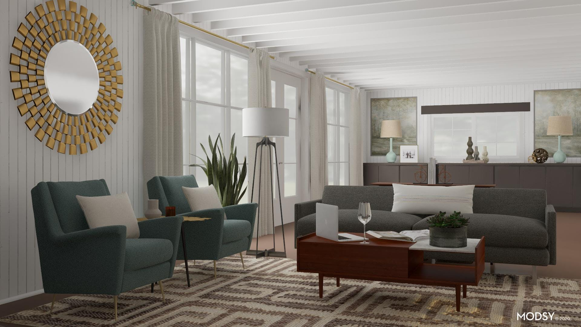 Mid-Century Forms: Living Room
