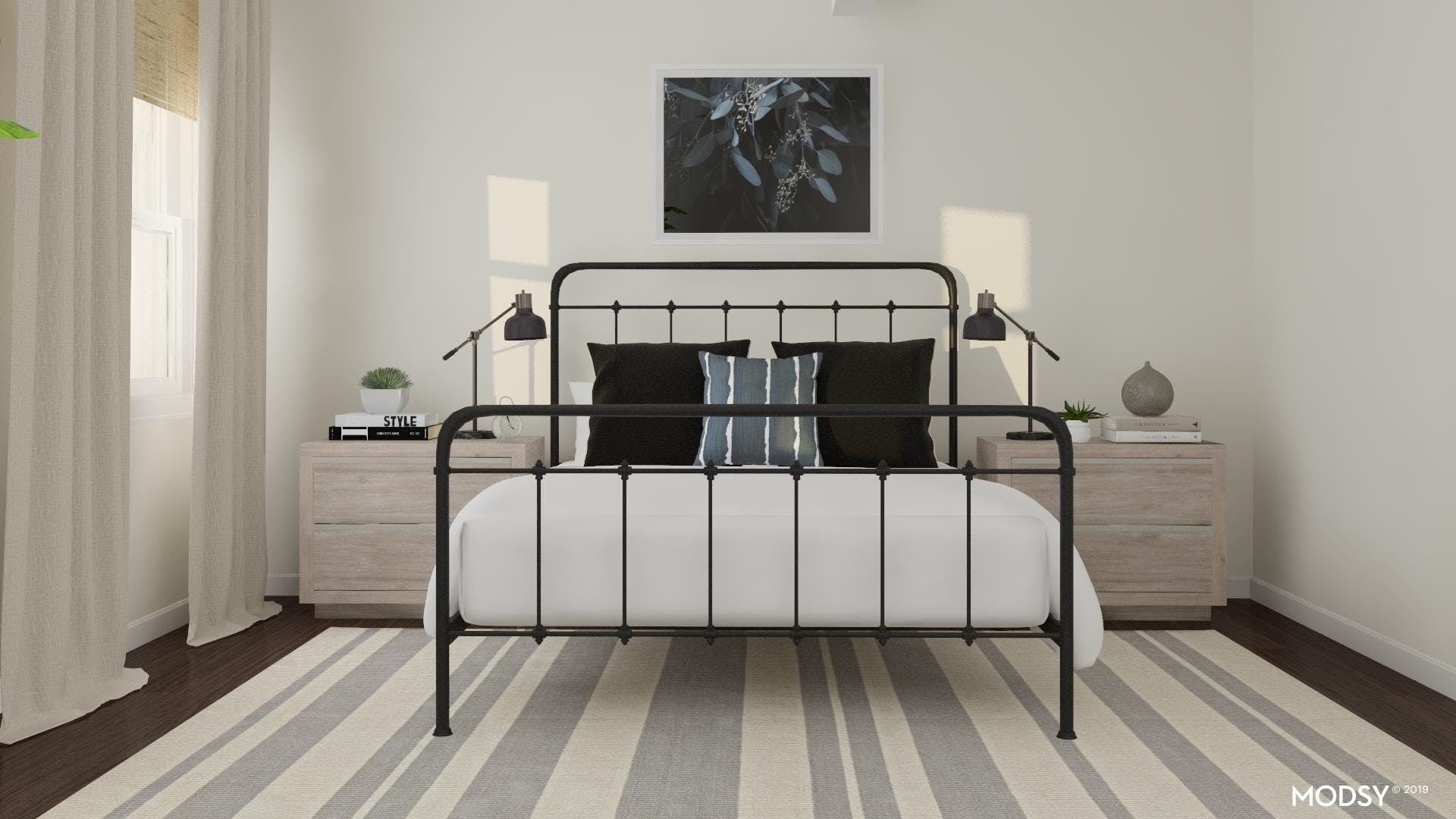 Modern Rustic Bedroom With An Industrial Twist