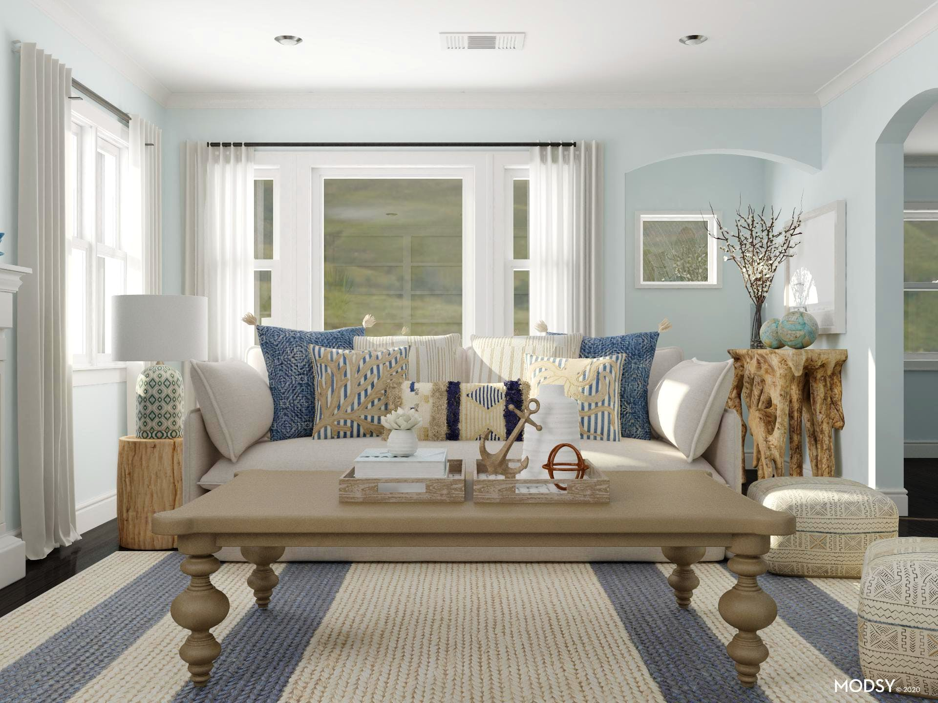 The Core Of A Coastal Living Room