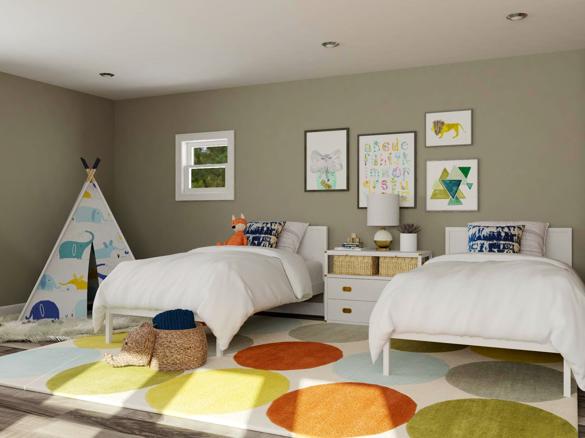 Adorable Kids Modren Shared Kids Bedroom