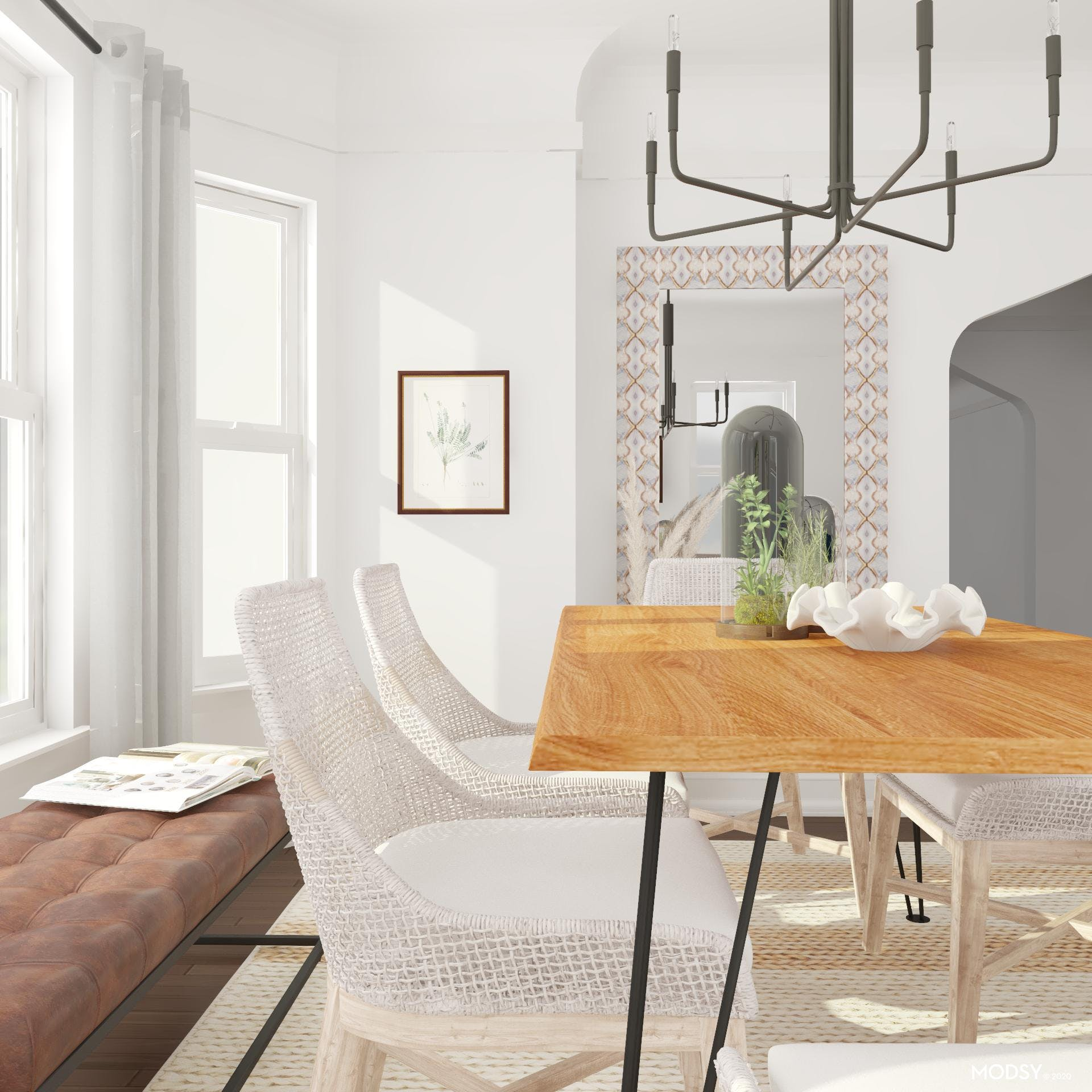 A Refreshing Collector's Dining Room