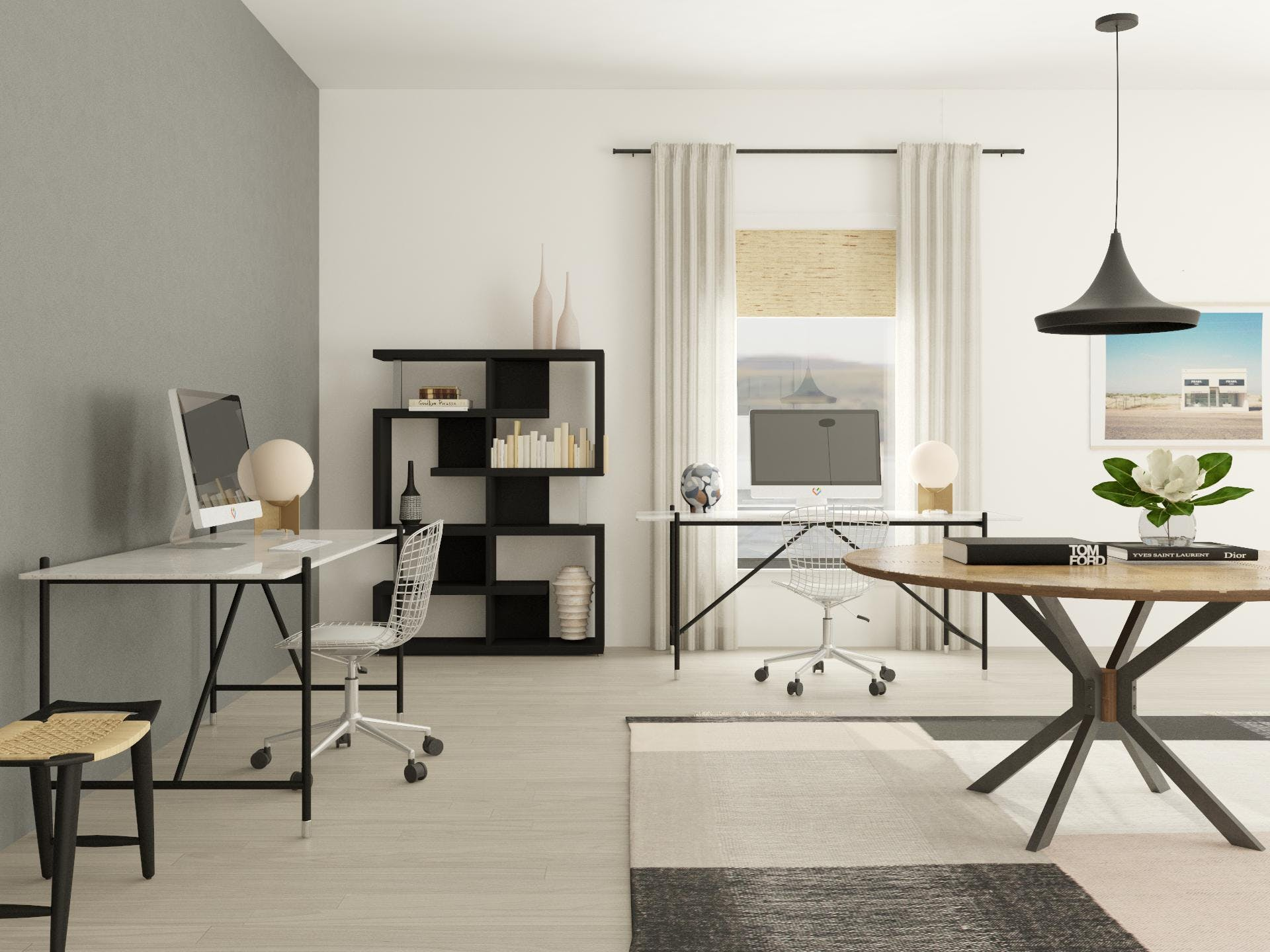 Multifunctional Shared Workspace in Dynamic Modern Style