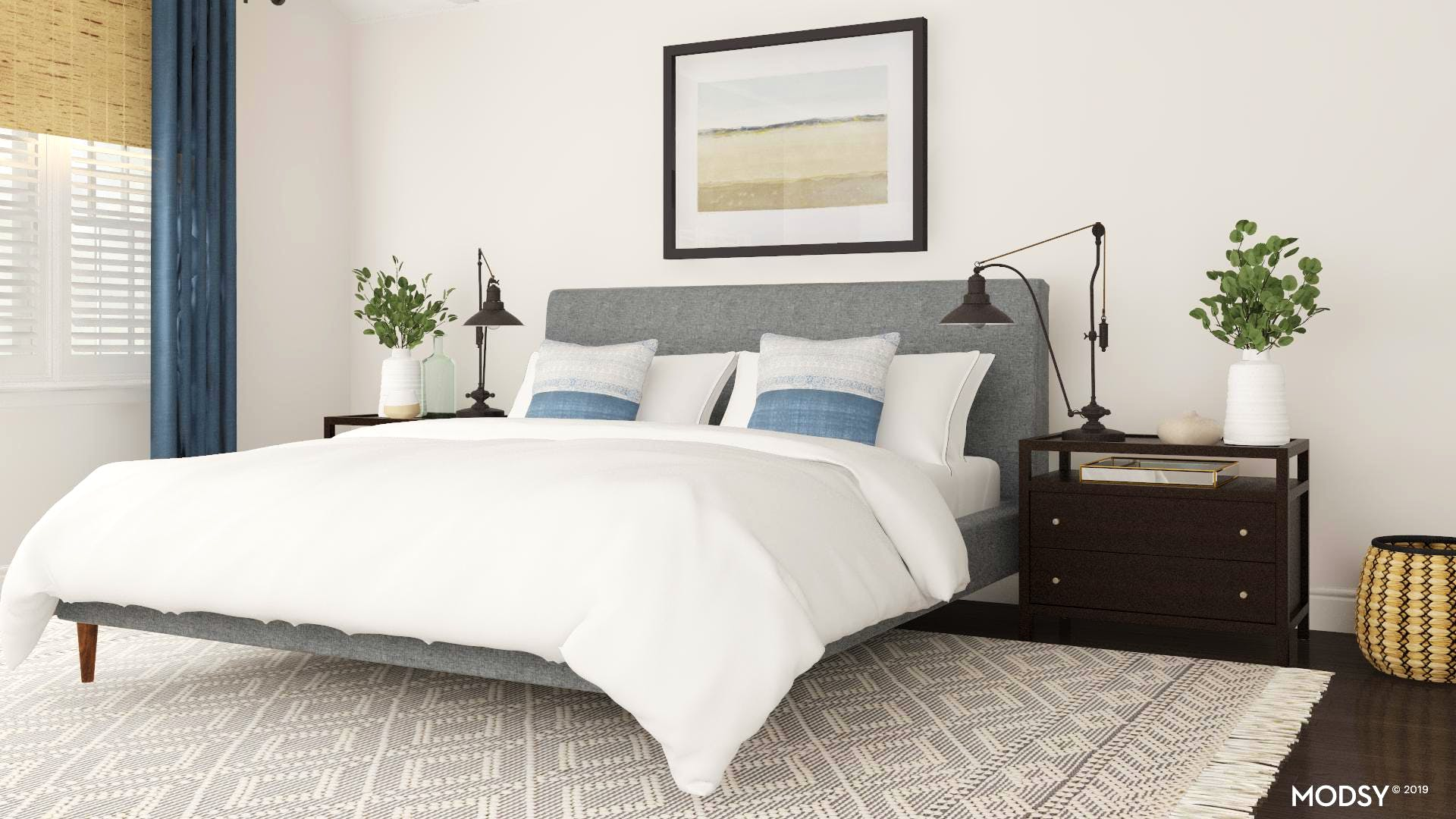 Modern Master Bedroom With Coastal Touches | Modern-Style ...