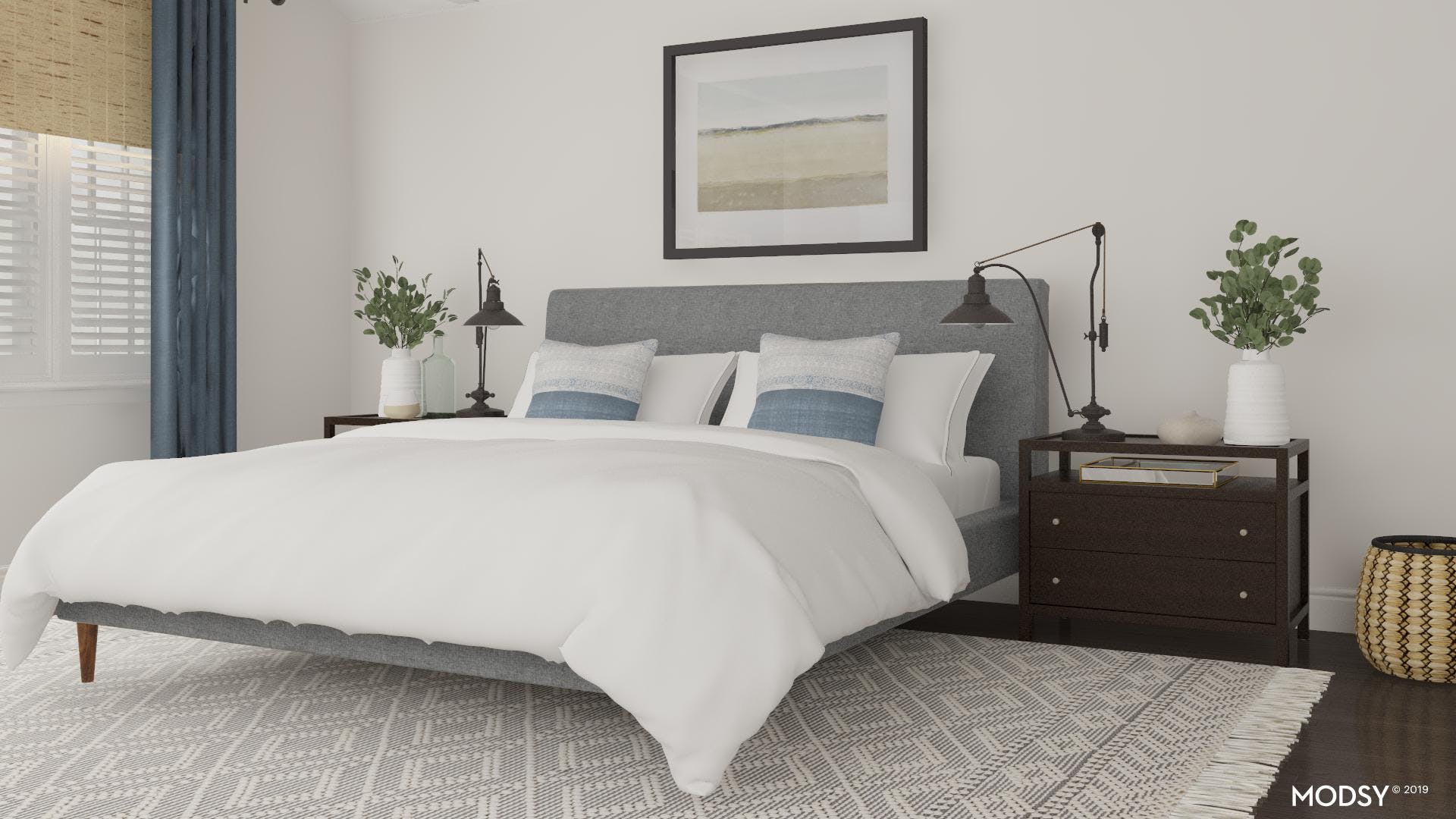 Modern Master Bedroom With Coastal Touches