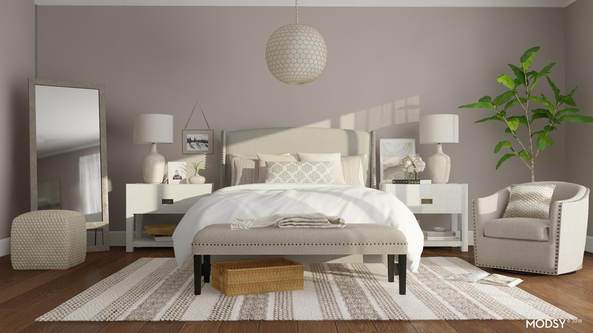 Classic Traditional Taupe Bedroom