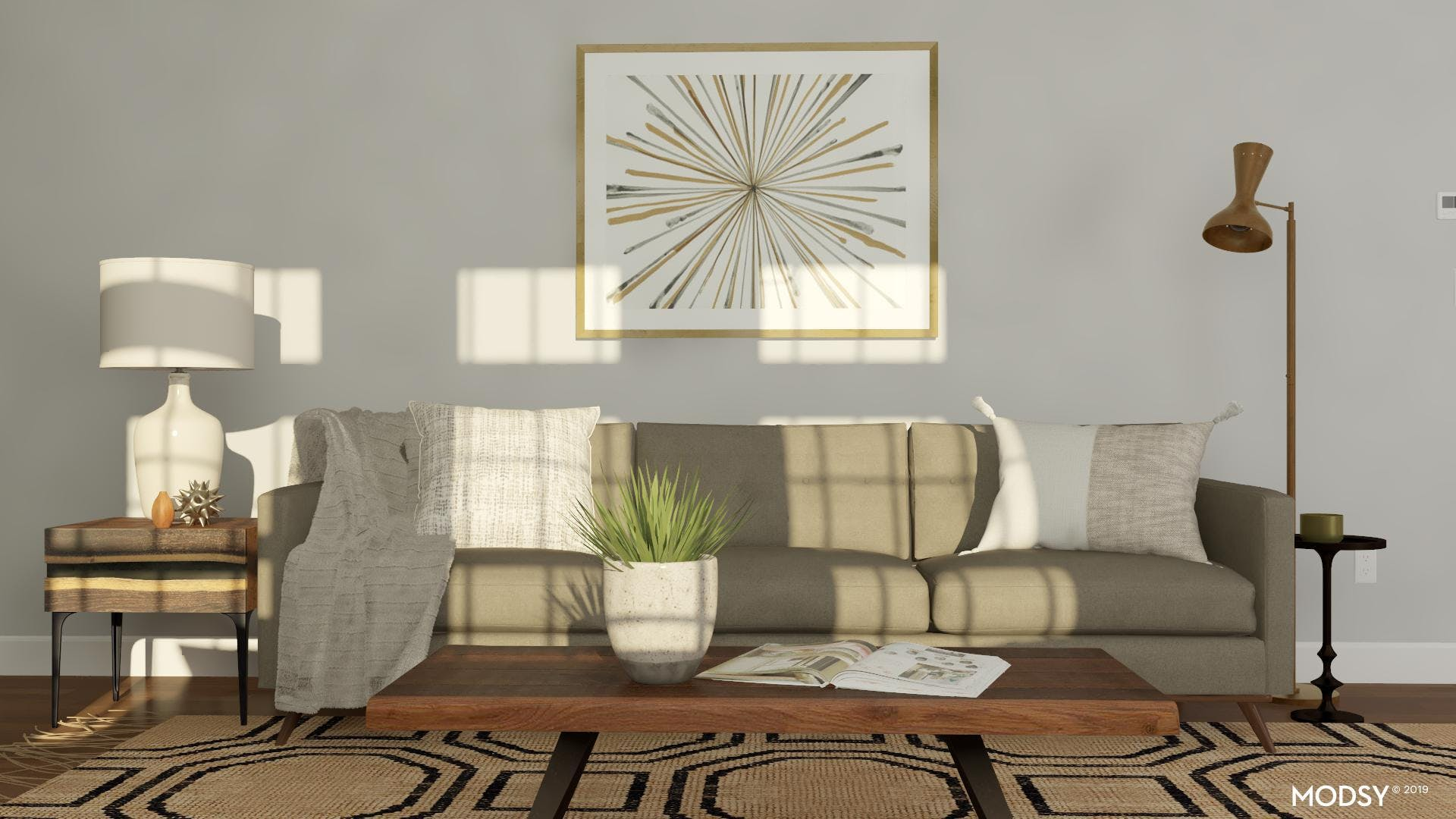 Less Is Modern: Styling For Mid-Century Modern Living Rooms