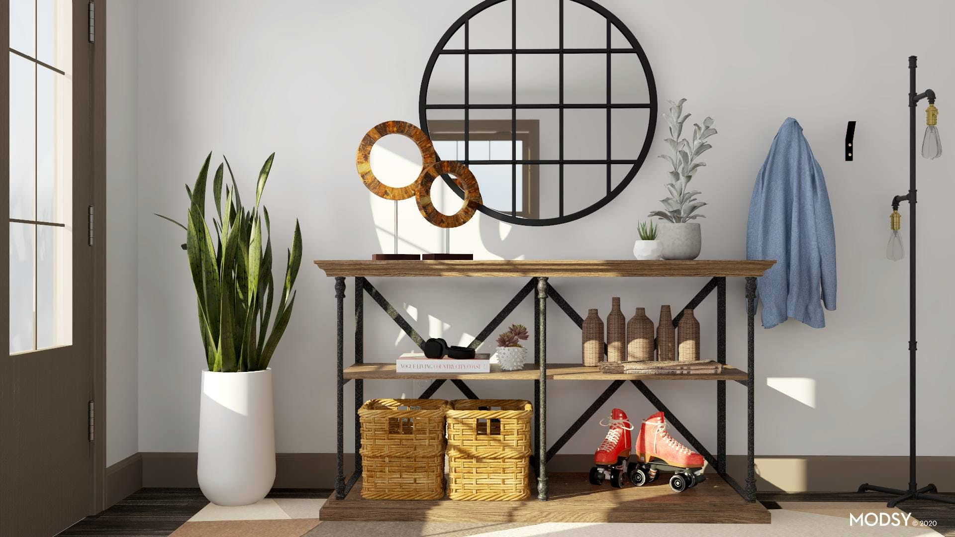 Earth tones for a welcoming entry!