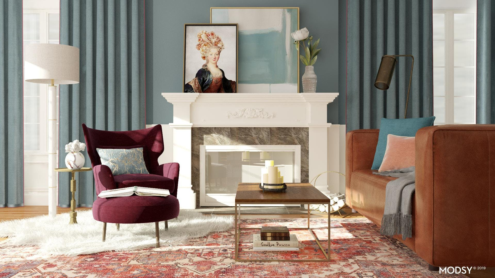 Classic Chic Ruby Living Room
