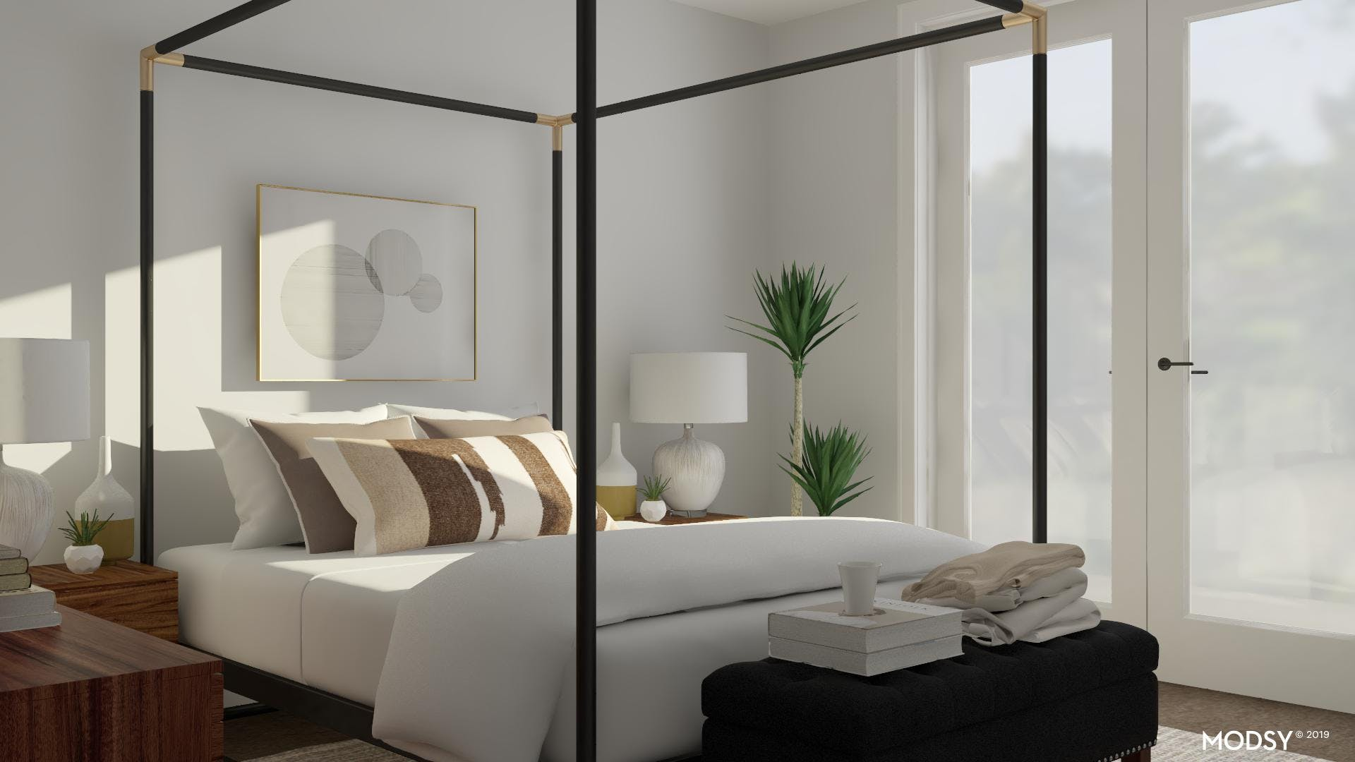 Extra Storage In A Mod Bedroom