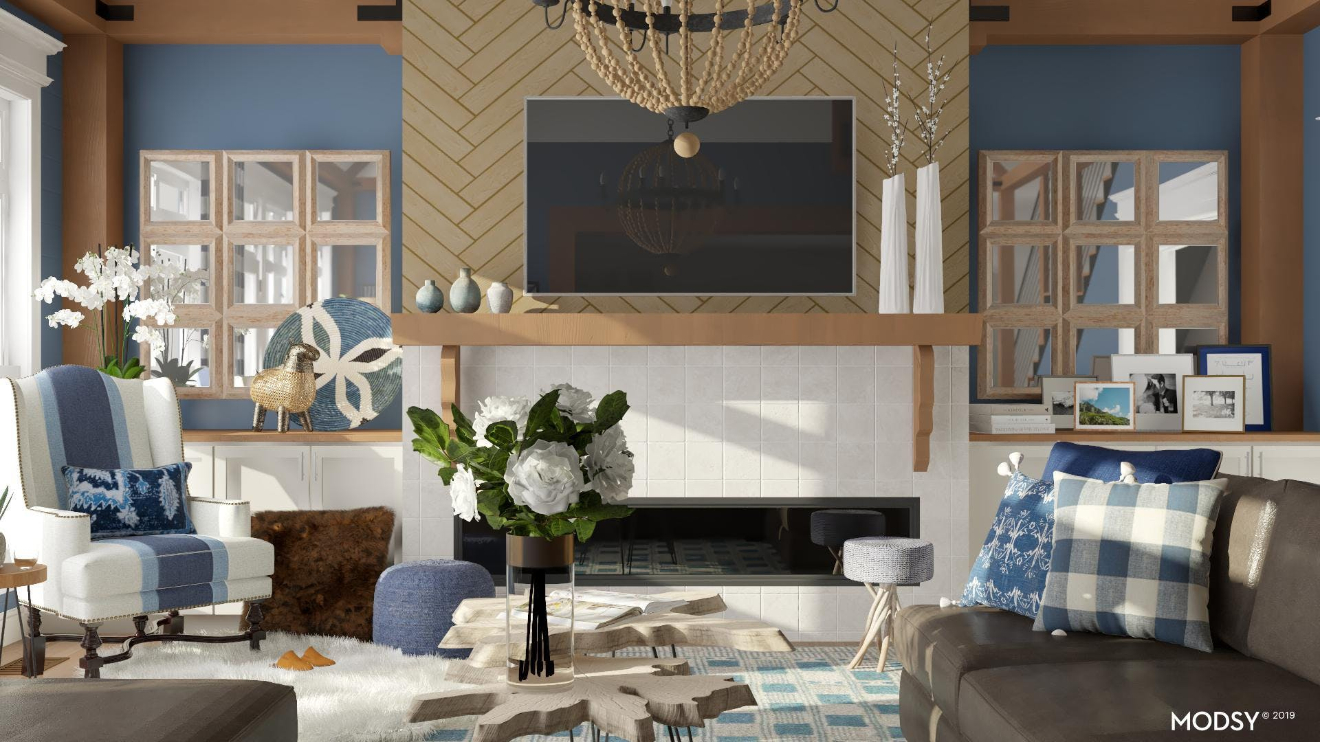 Beyond The Blue: Eclectic Living Room