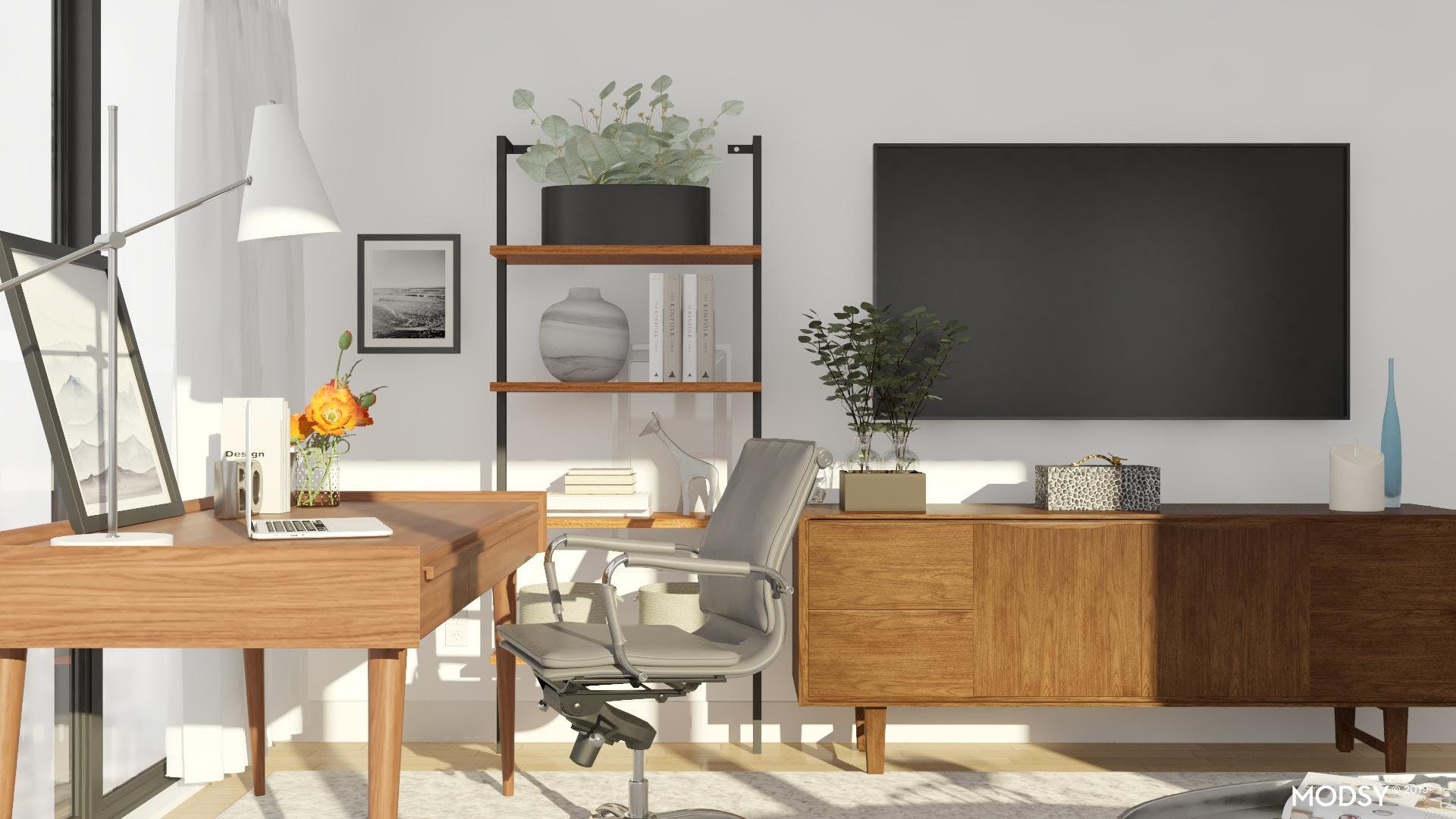 Warm And Neutral Workspace