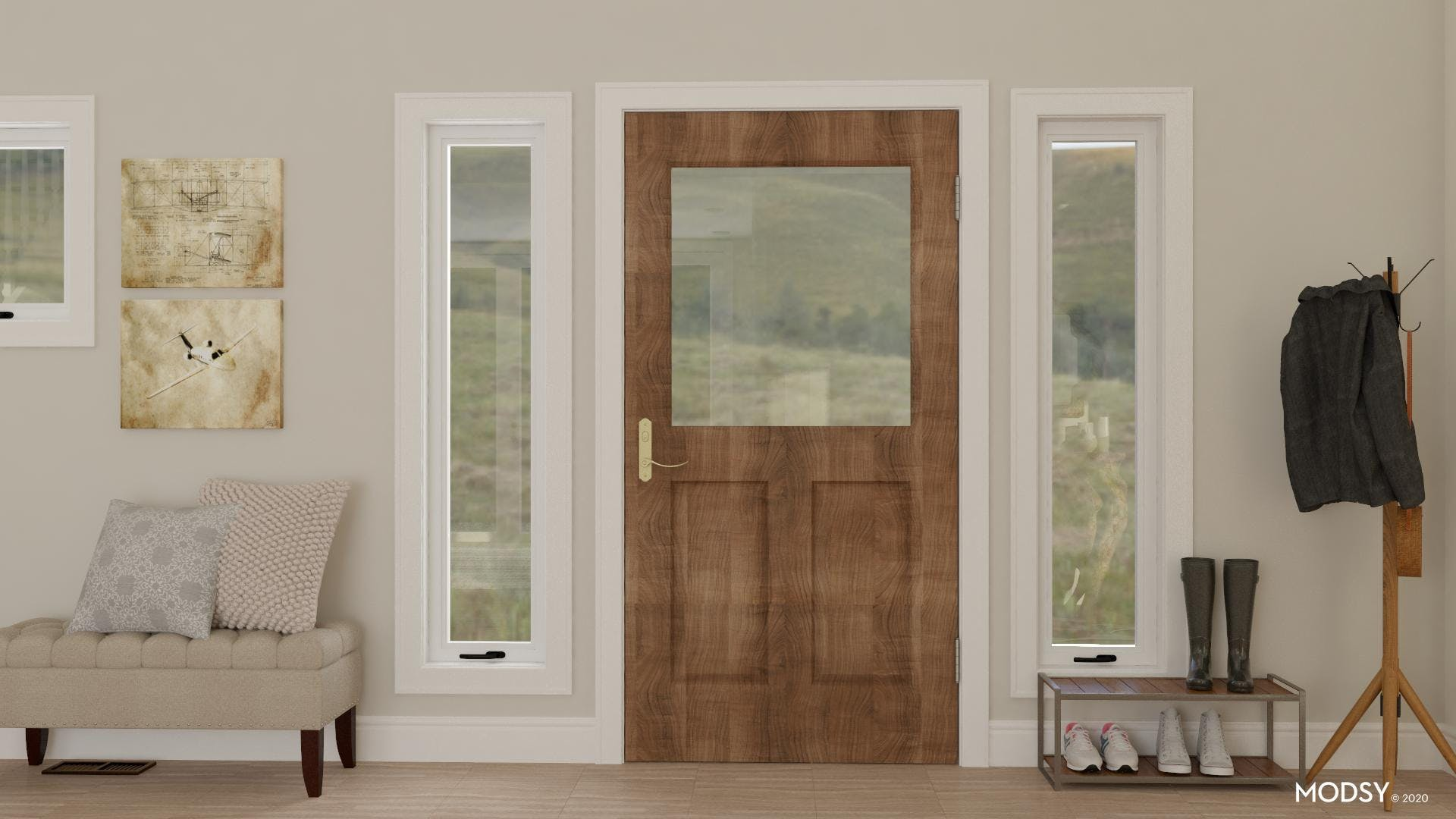 Rustic Style Entry Storage
