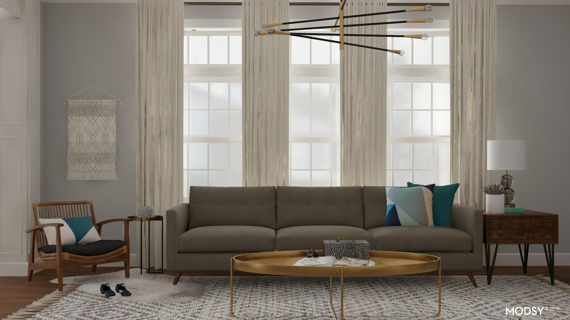 Light Walls With Bright Furniture