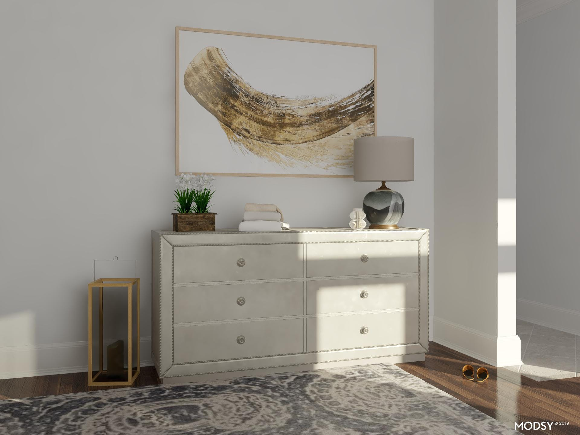 Simple And Glamorous Dresser