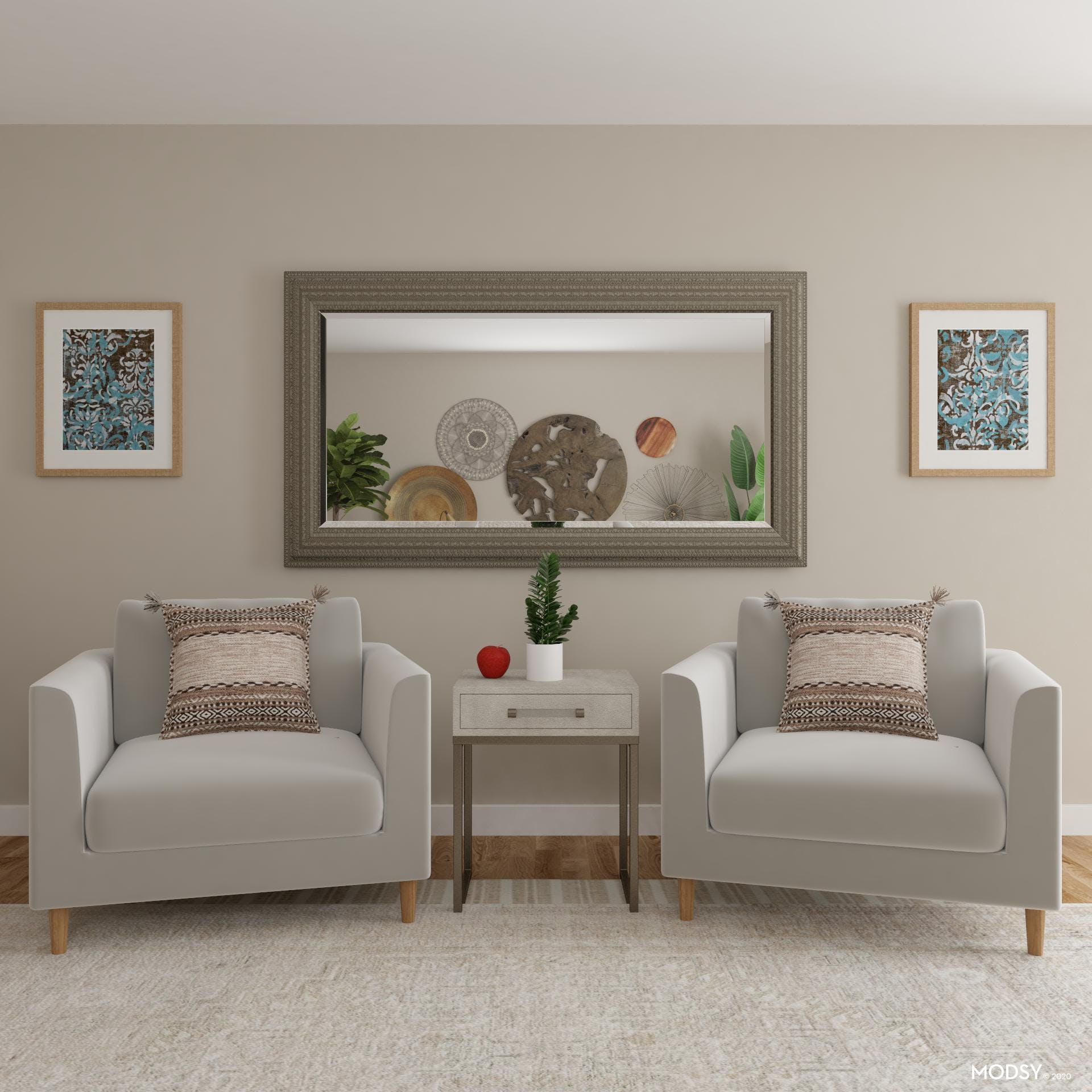 Transitional and Earth-Toned Office