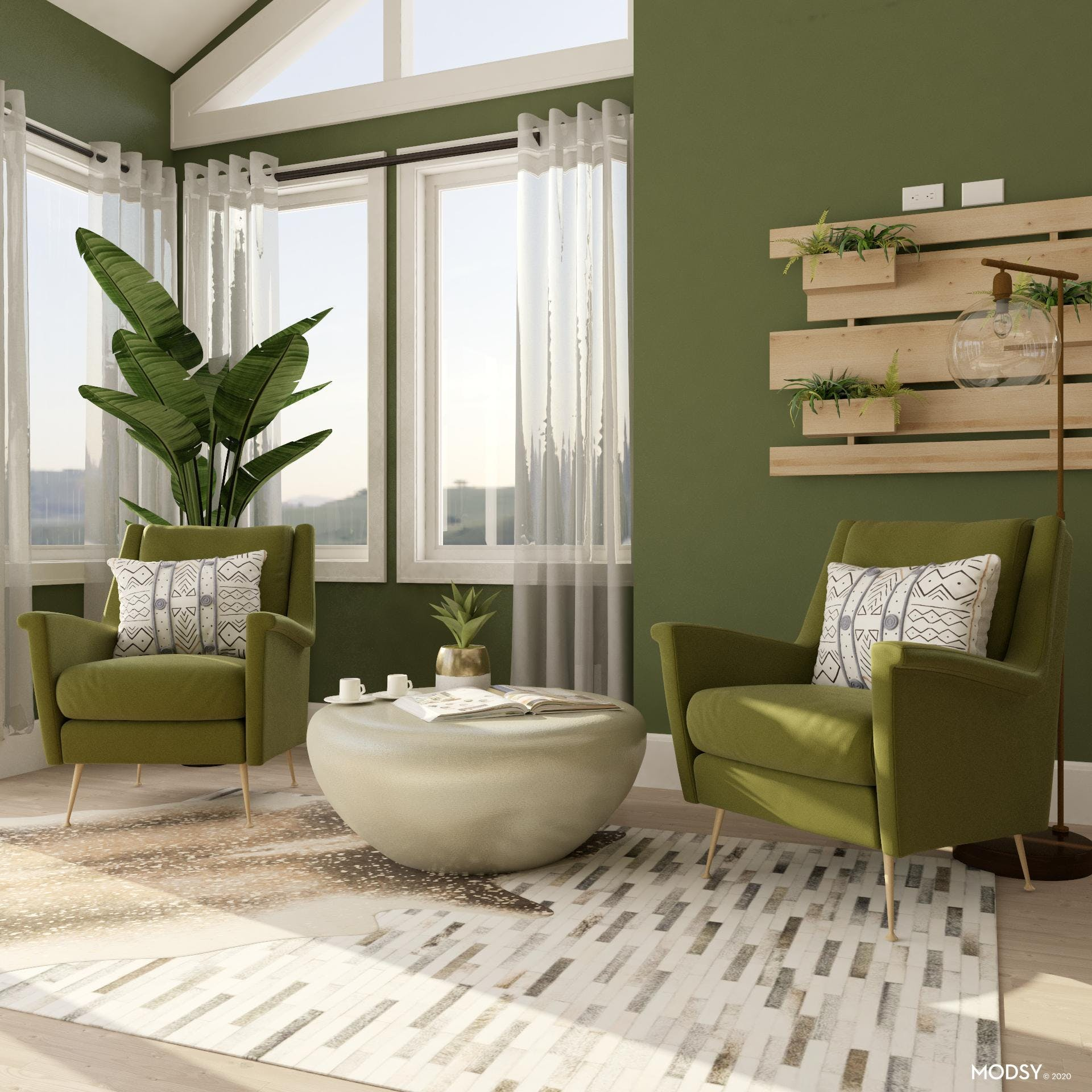 Green Glam Office Seating