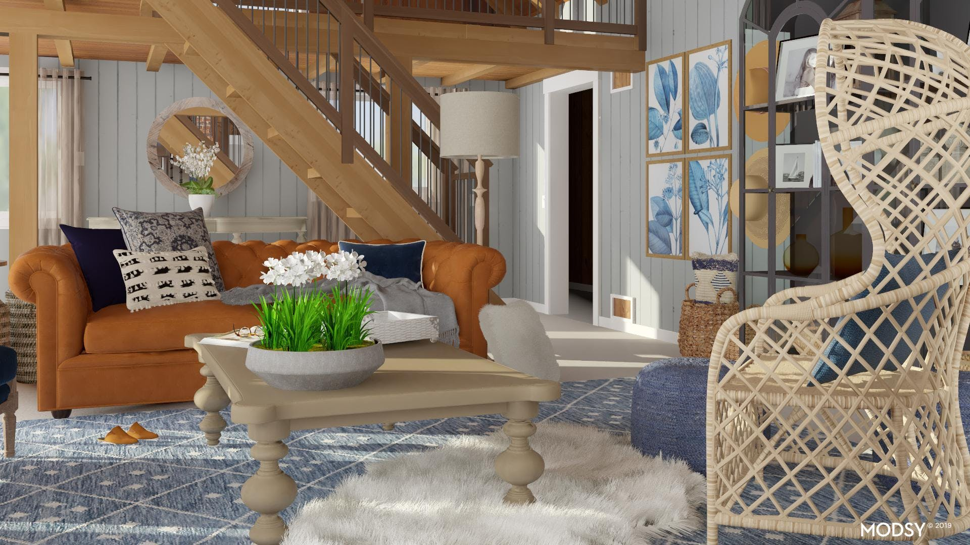At Home In Rustic Blue