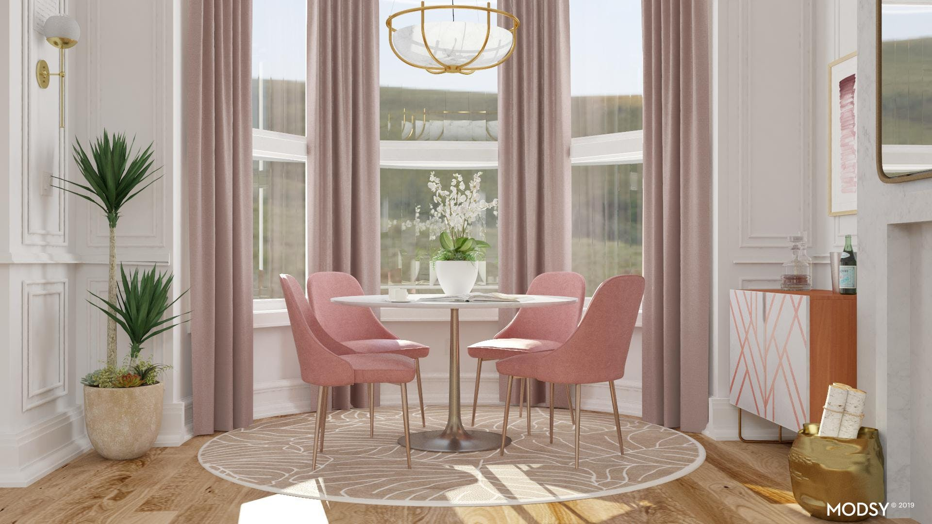 Chic Glam Dining Area