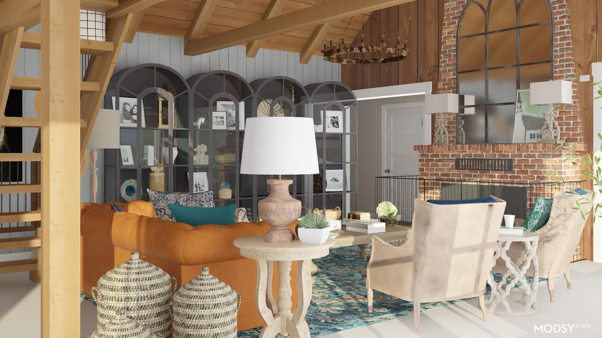 Naturally Rustic Living Room