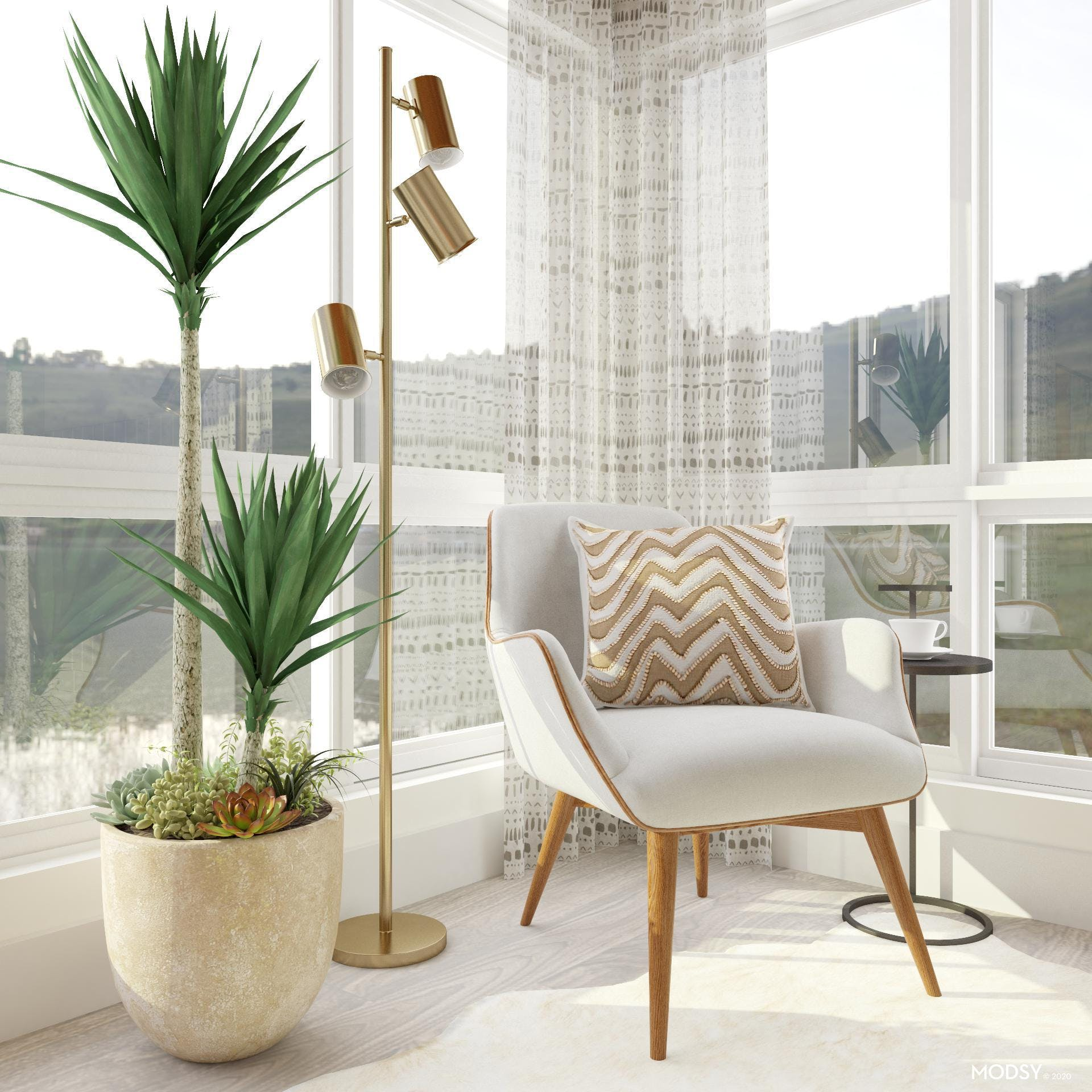 Statement Chair: Contemporary Bedroom