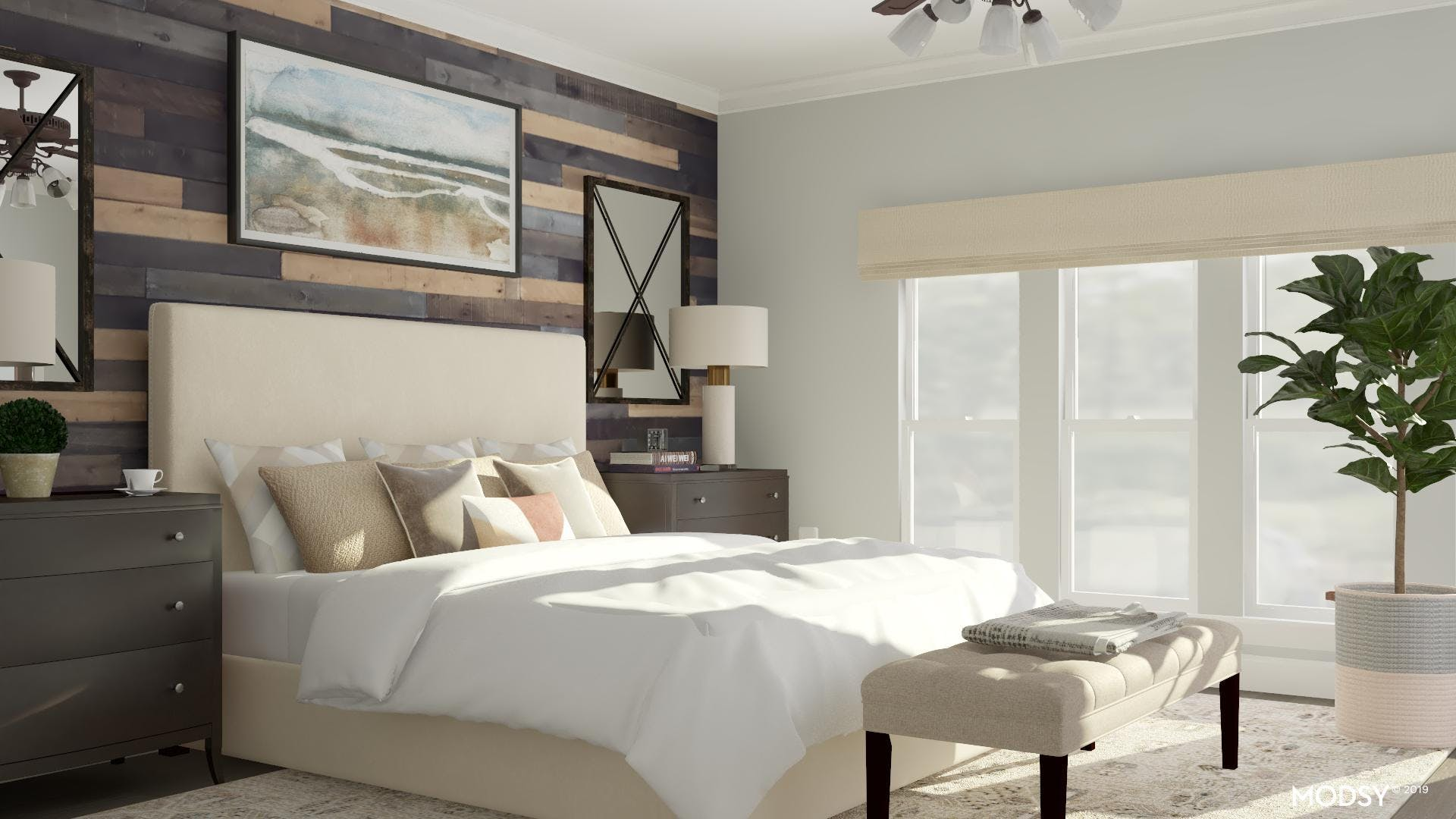 Traditional Bedroom With An Earthy Palette