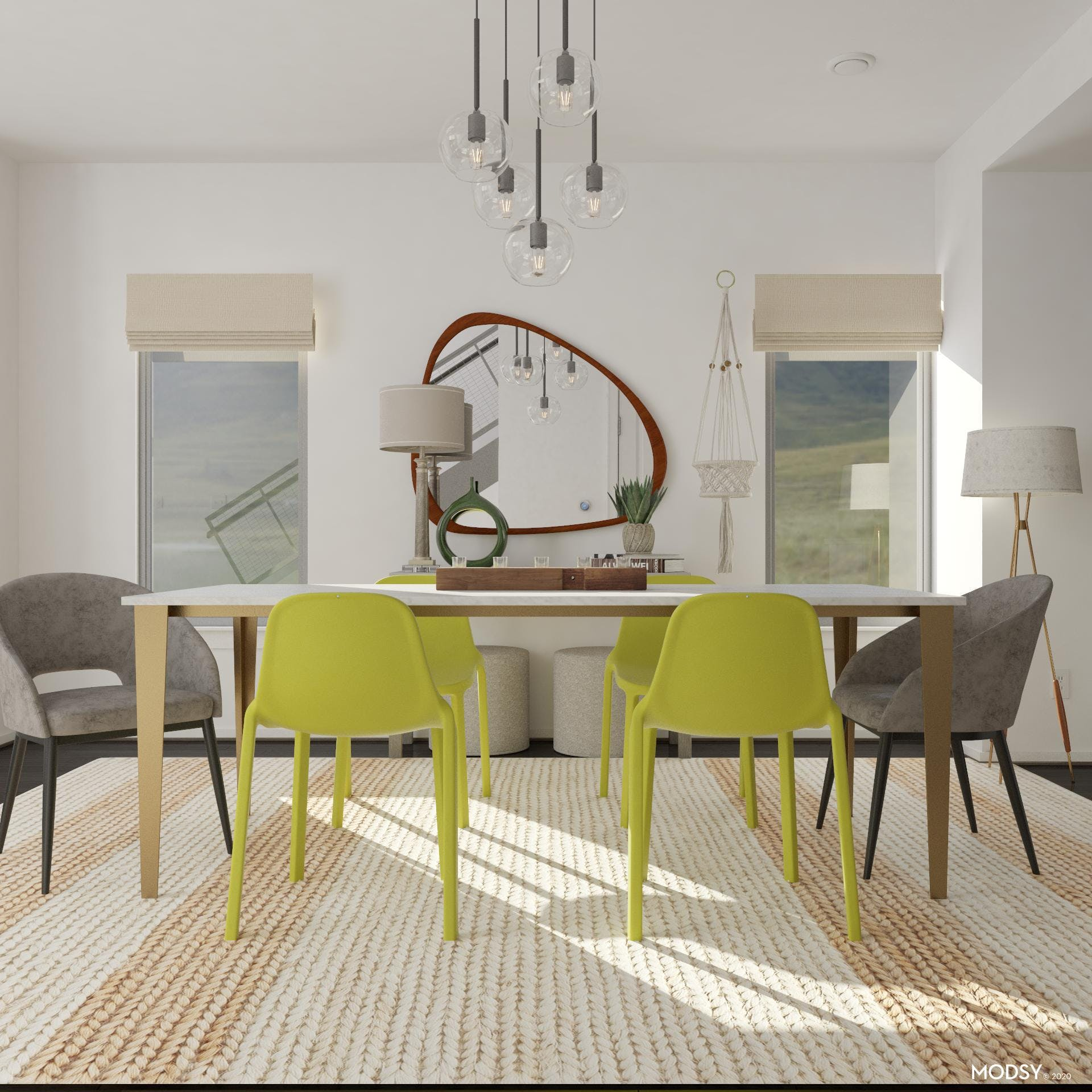 Modern Lime Dining Room