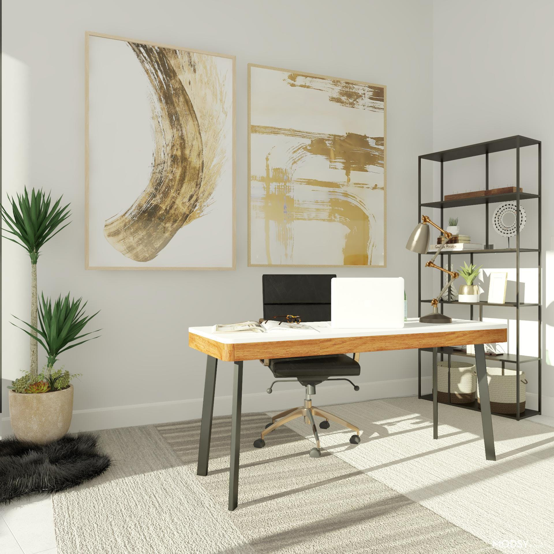 Neutral and Bright Office