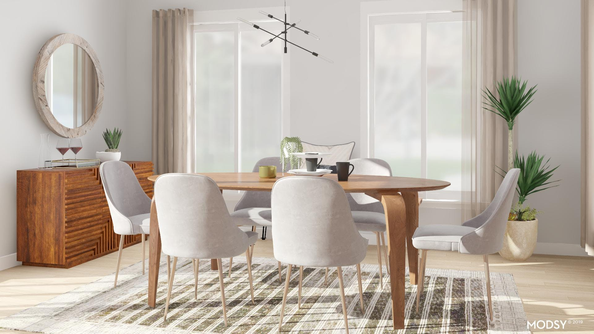 A Neutral, Mod Dining Space