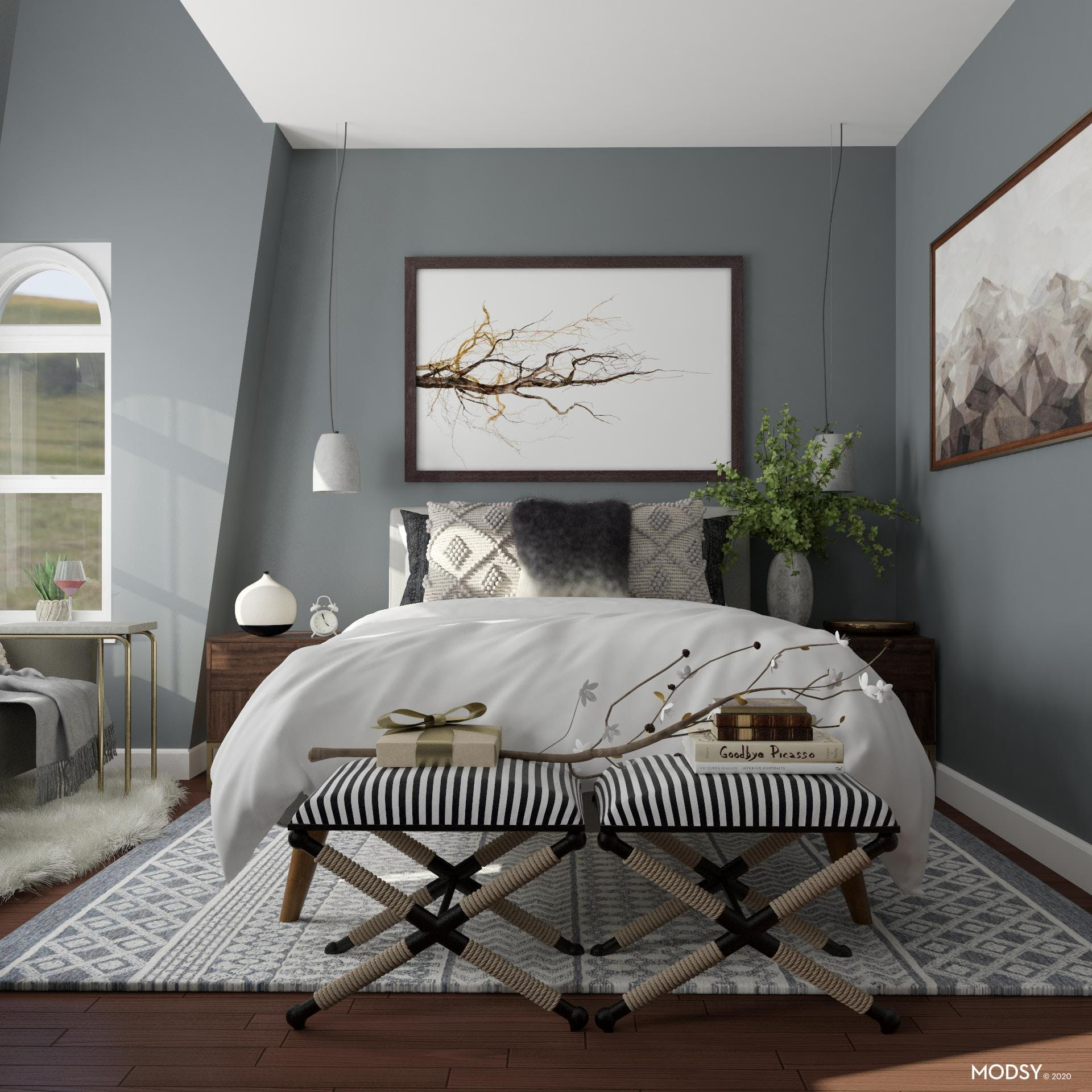 Neutral Palette: Transitional Bedroom Design