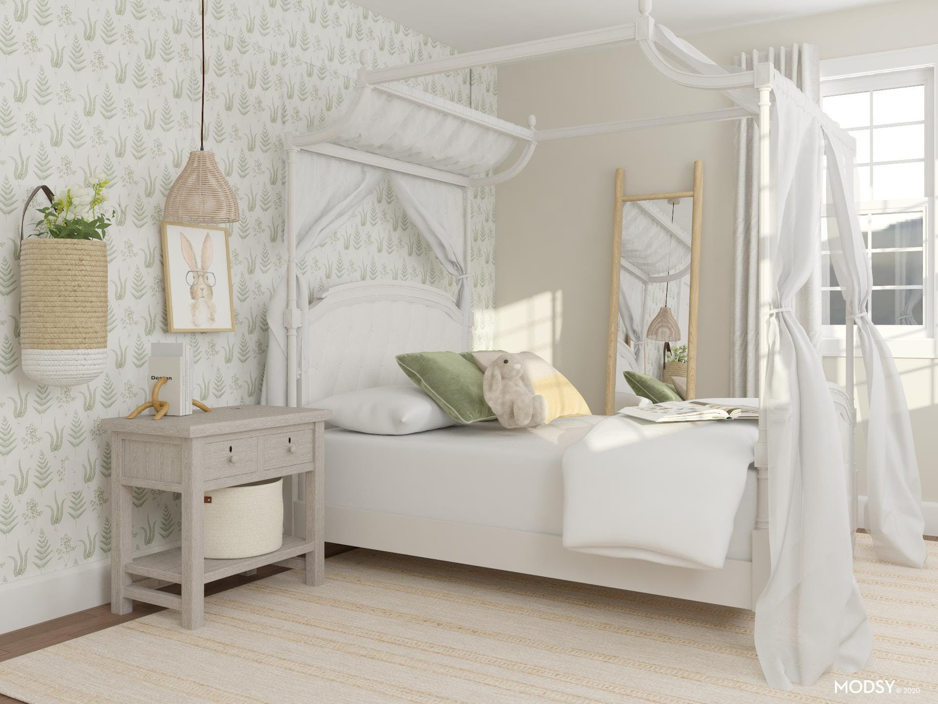 Beautiful Traditional Bedroom with Fanciful Canopy Bed