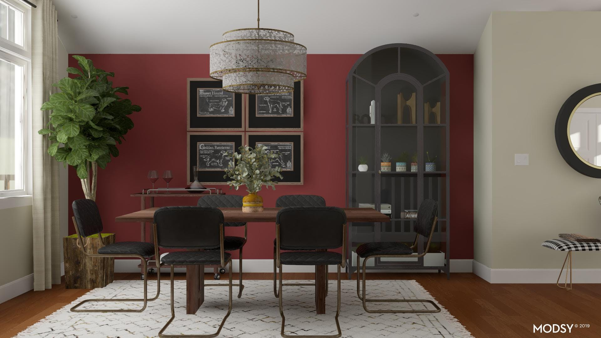 Black & Red Industrial Dining