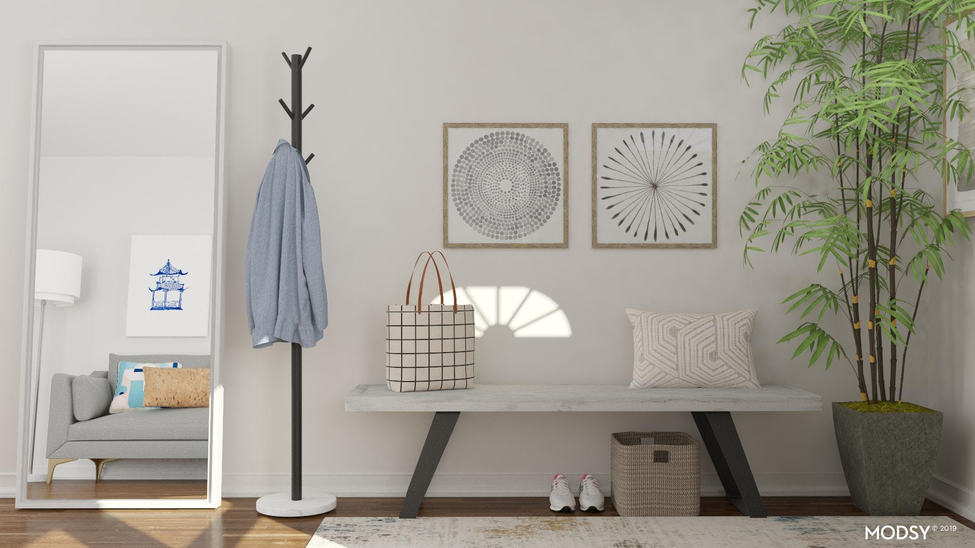 Calm, Fresh and Beautiful Entryway
