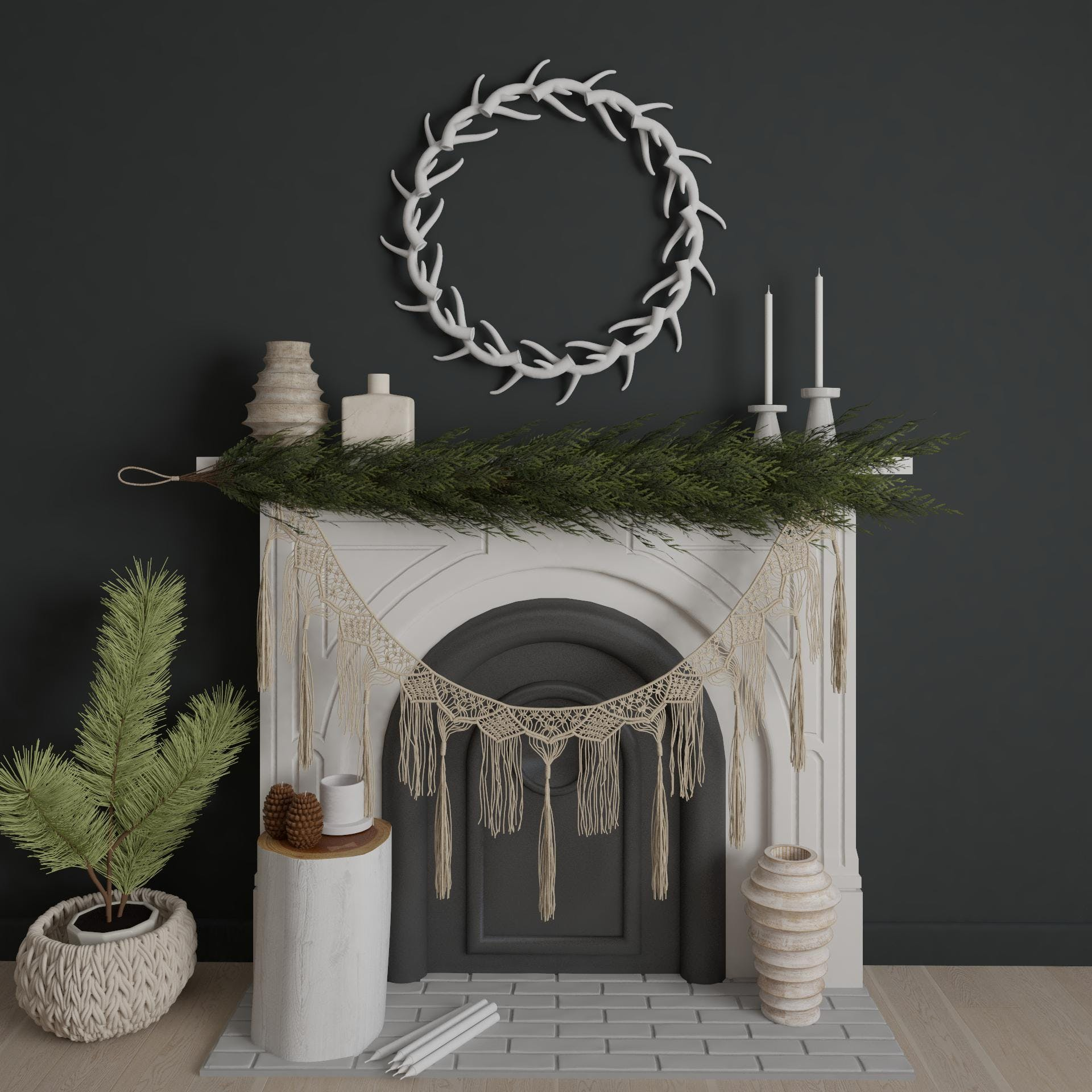 Hygge-Inspired Mantel Styling