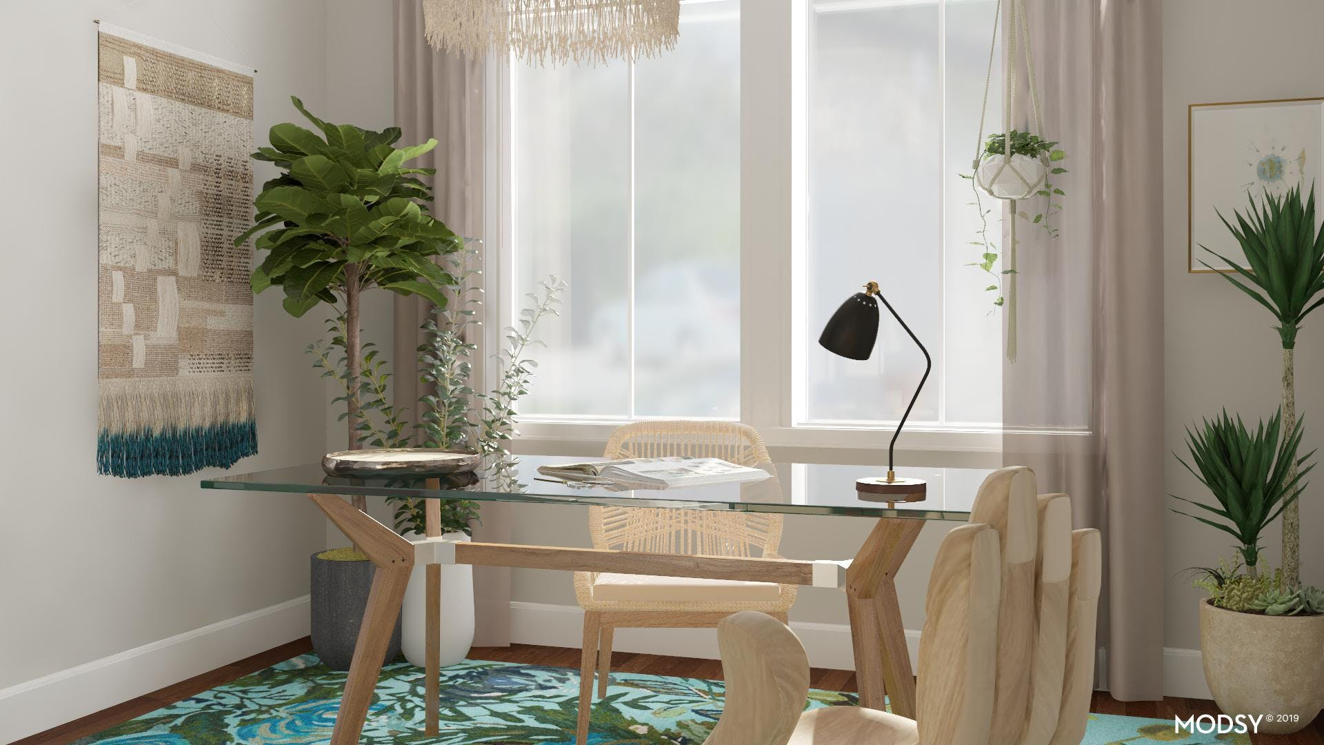 Fresh and Zen Office For Your Eclectic Life
