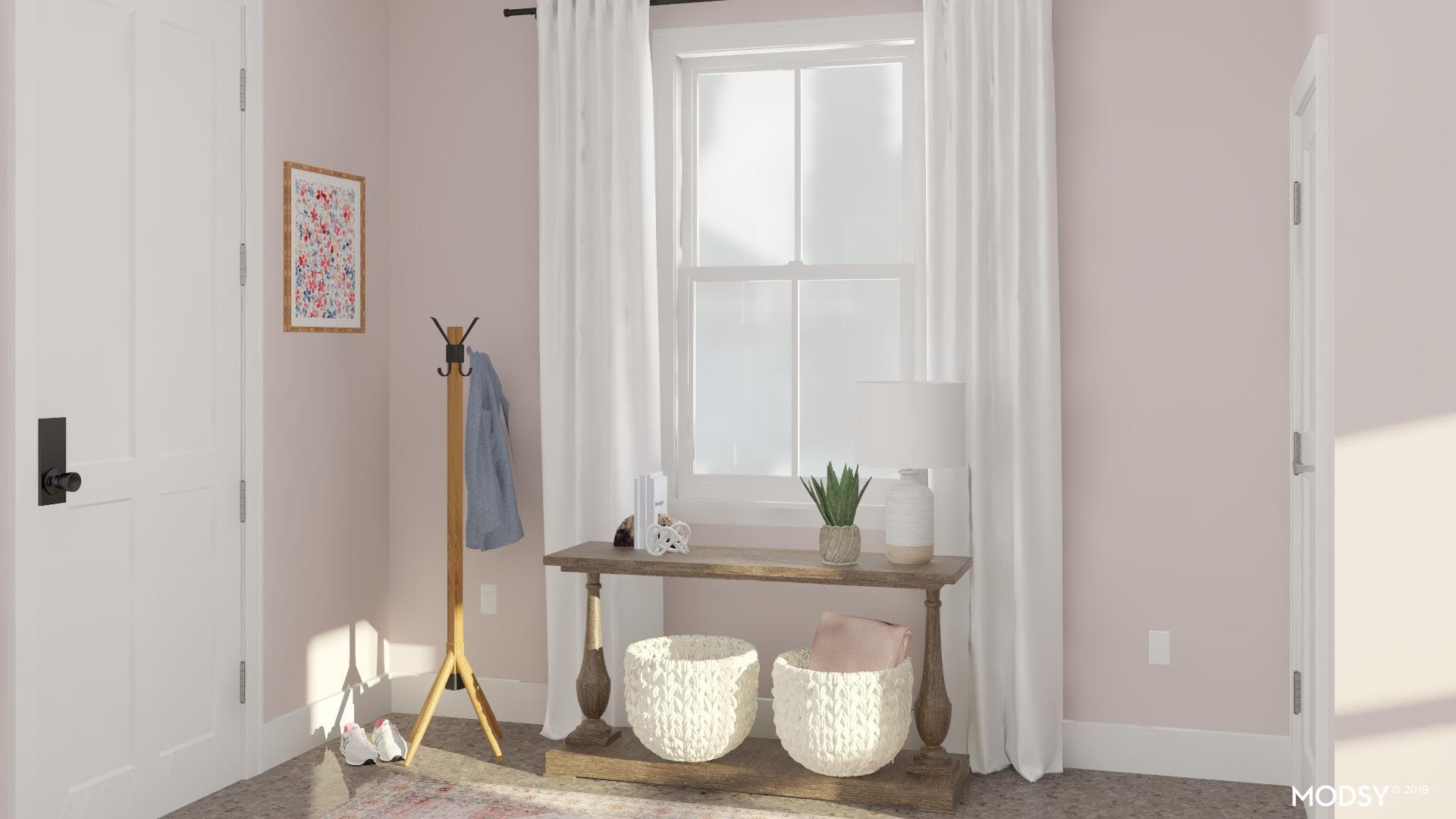 Tickled Pink Rustic Entry