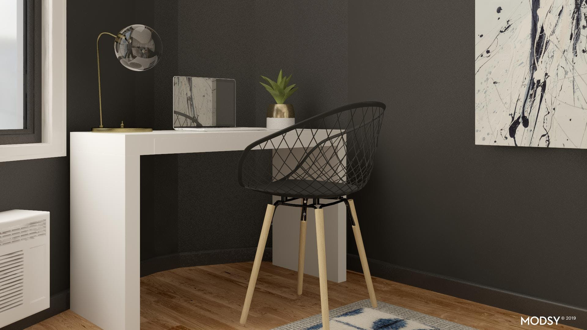Small Home Office with Industrial Style