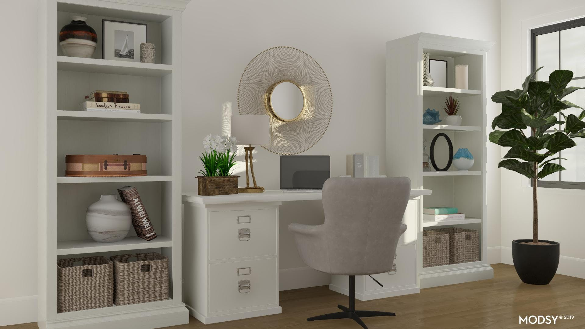 White Rustic Office