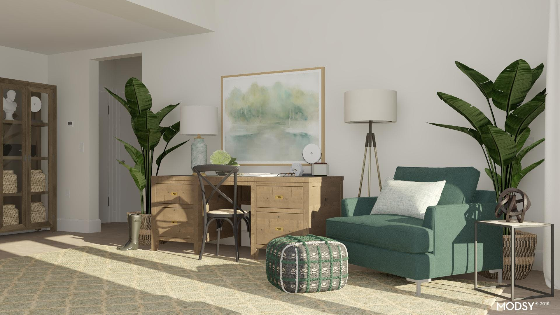 Green Transitional Home Office