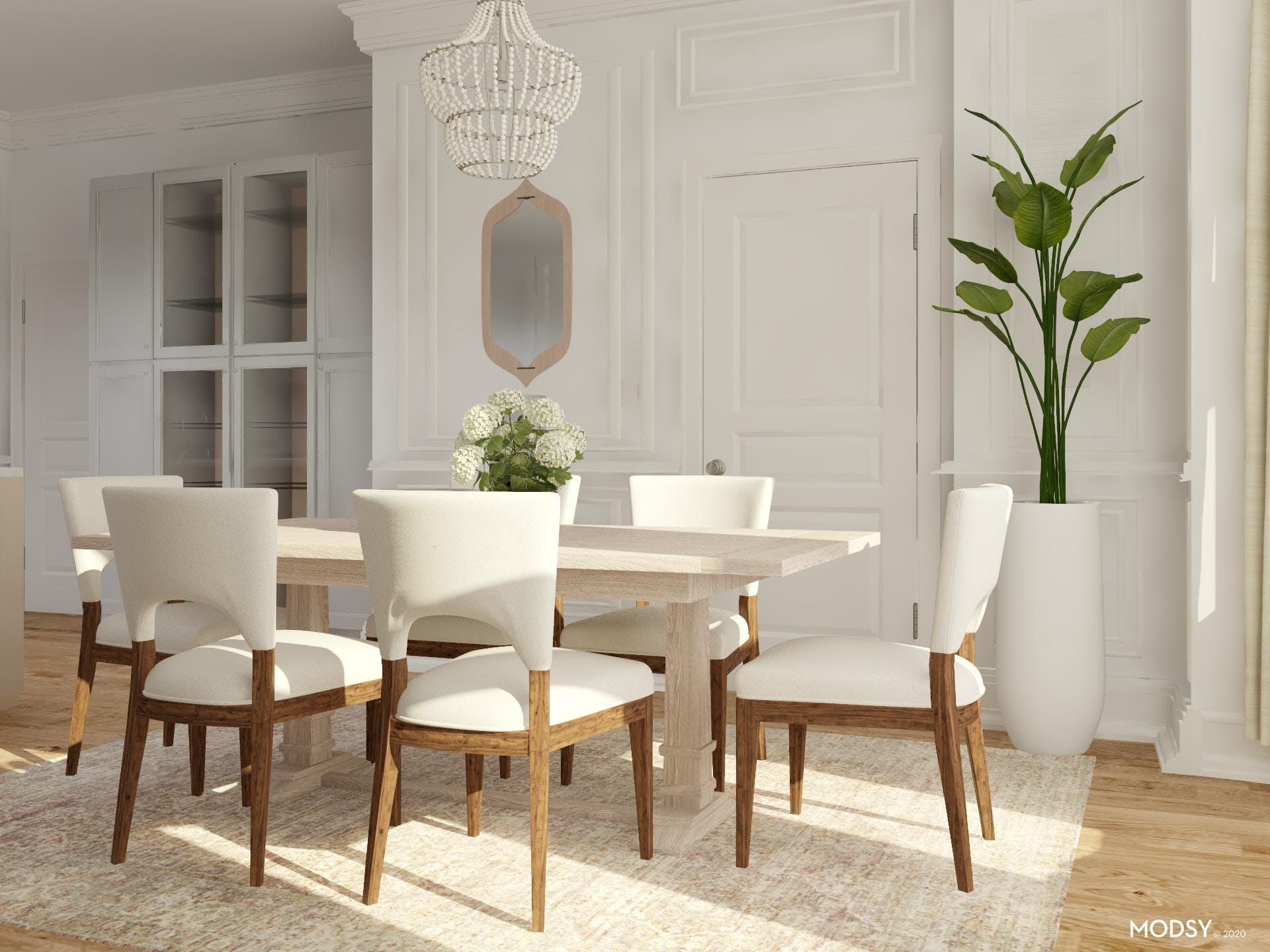 Glamor Meets Nature in this Dining Room