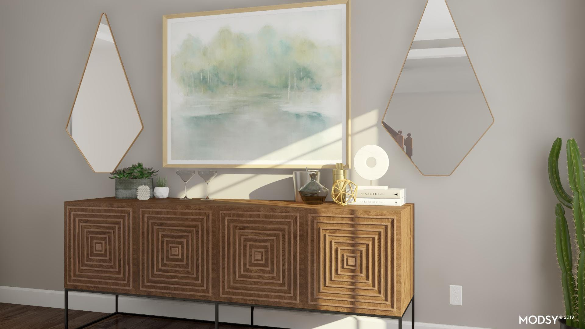 Sideboard Styling That Highlights Your Mid-Century Design