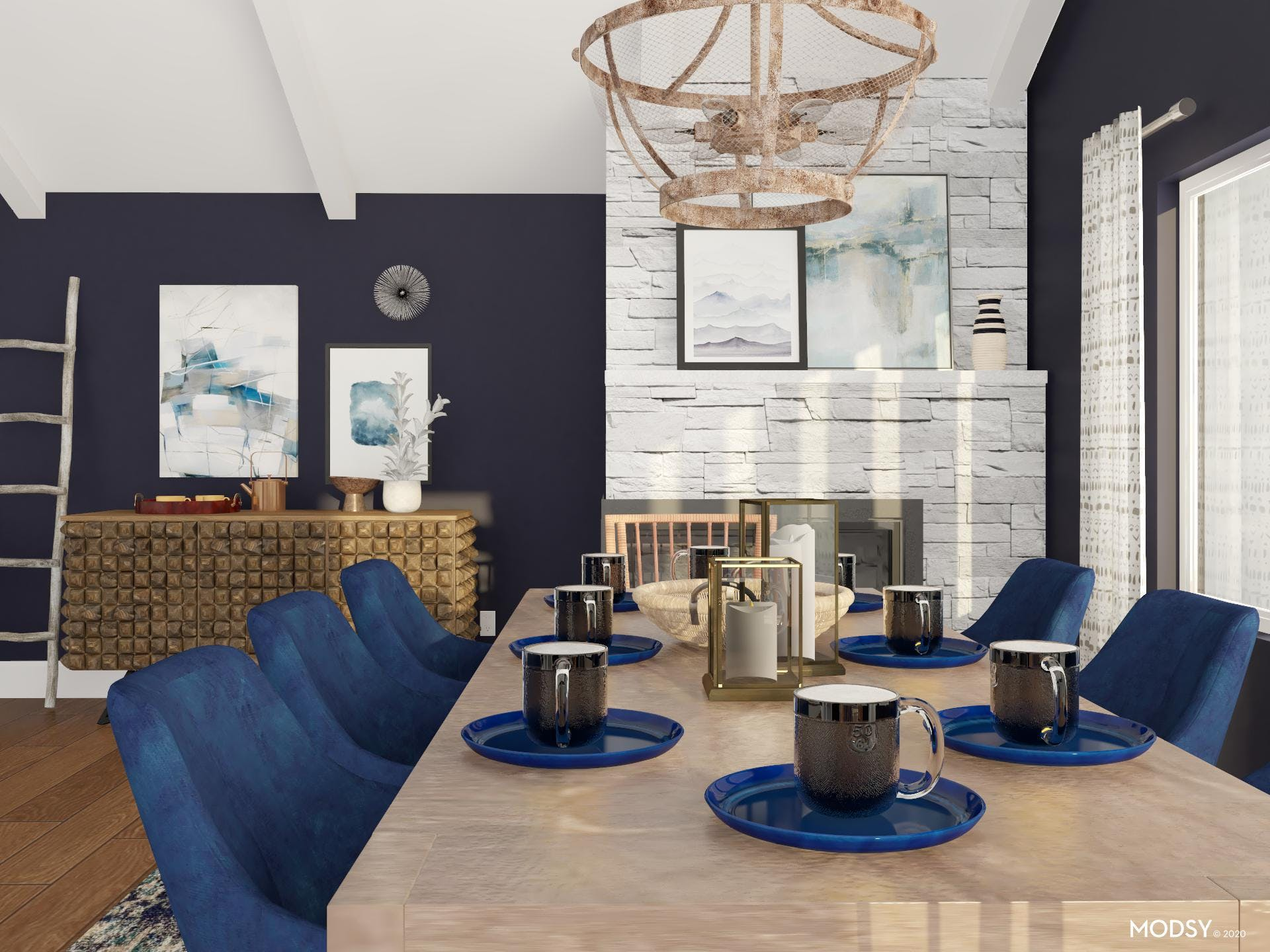 Cozy Dining Room: Eclectic Touch