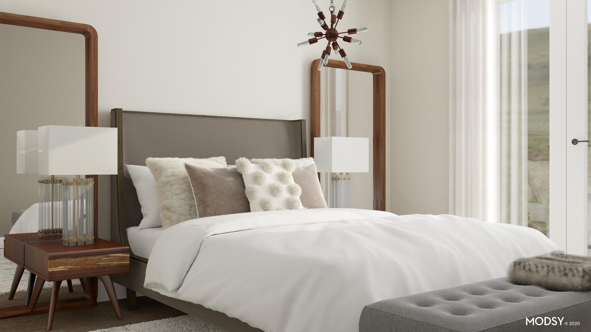 Neutral Tone For A Modern Bedroom