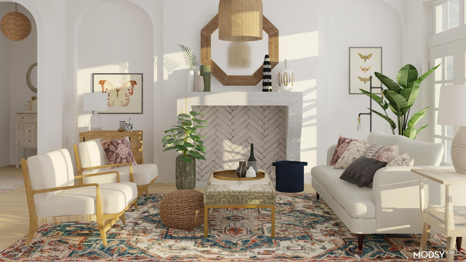 Eclectic Oasis Living Room