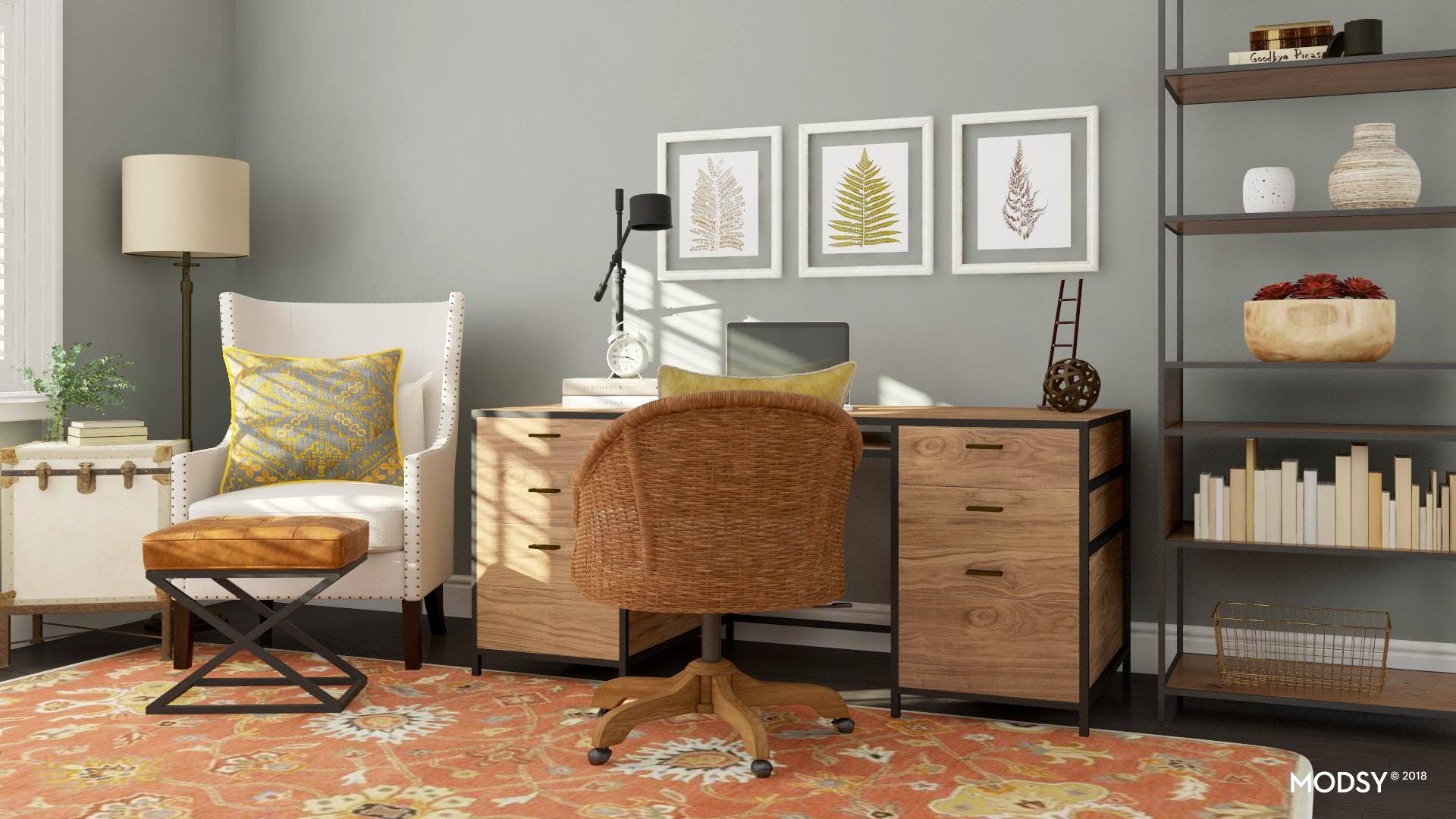 Rustic Chic Home Office Style