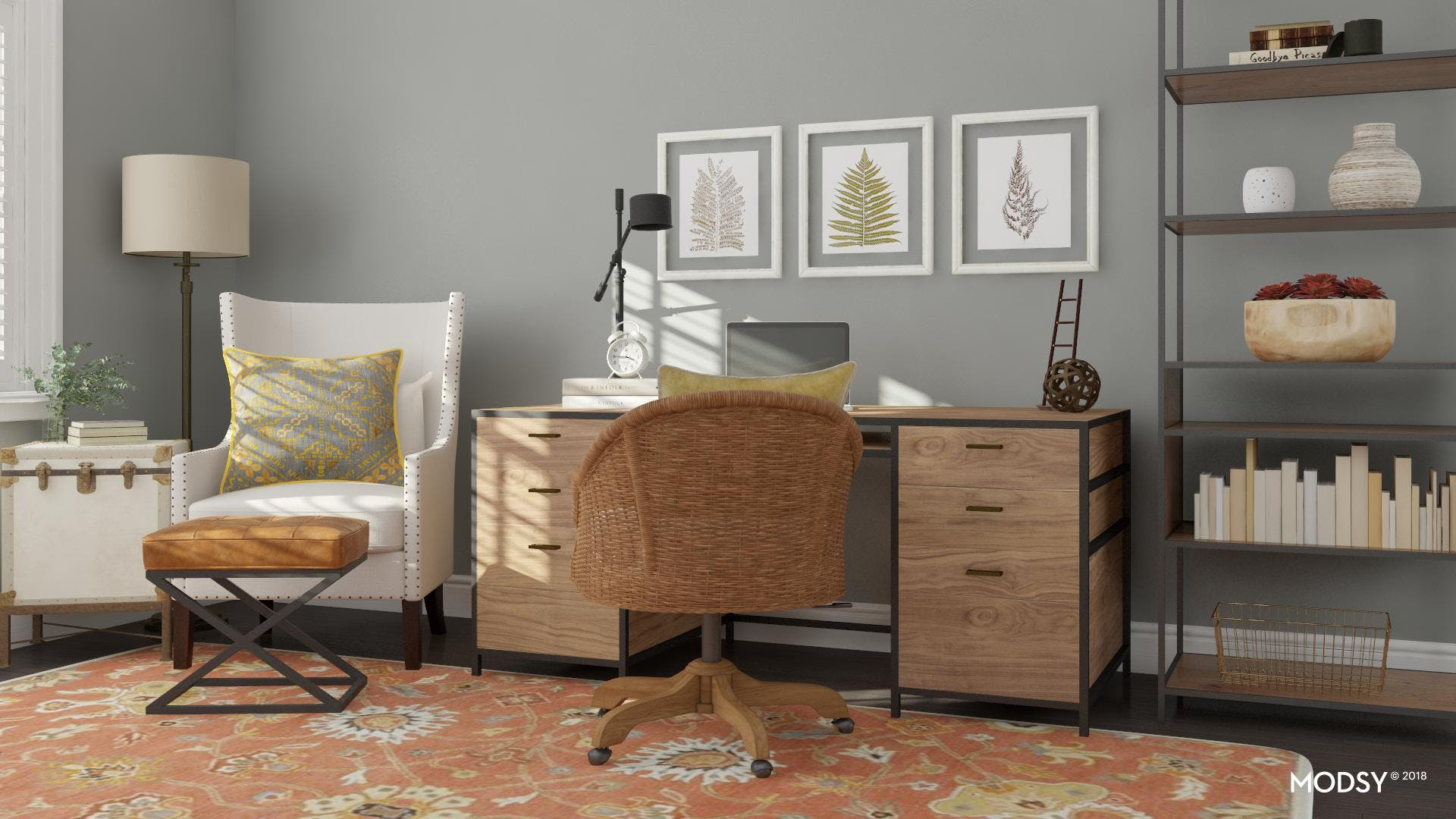 A Rustic-Chic Home Office