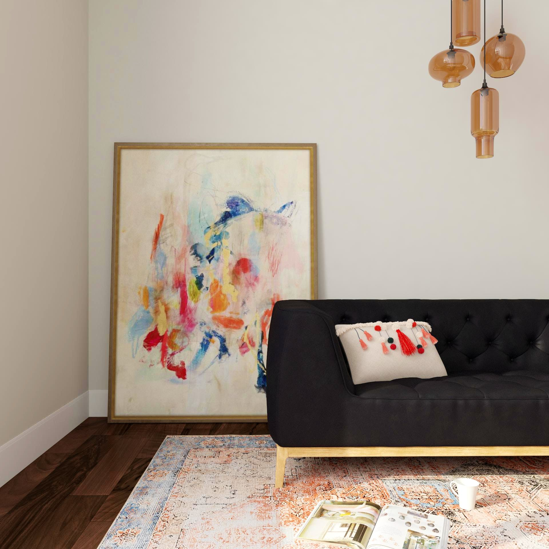 An Eclectic Living Room with a Rainbow of Colors