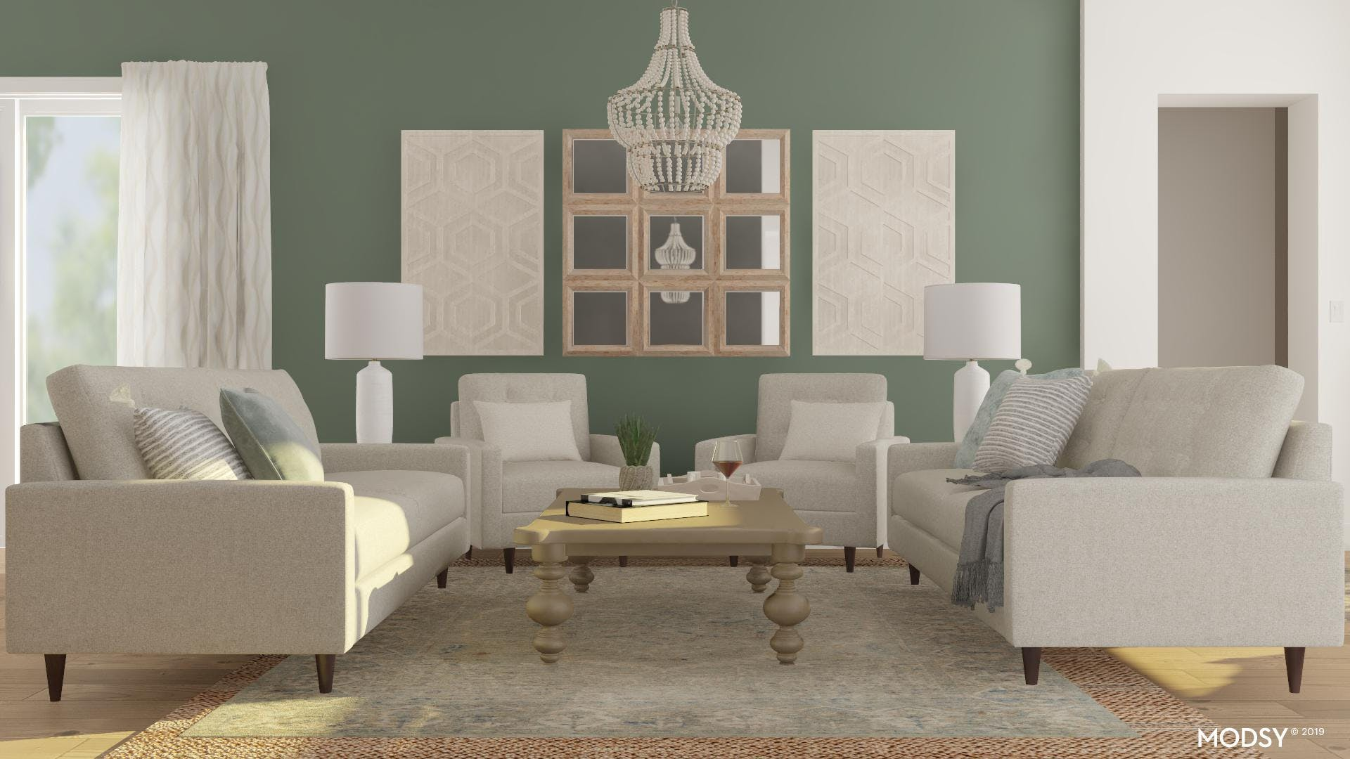 Sage Is All The Rage! Rustic Living Room