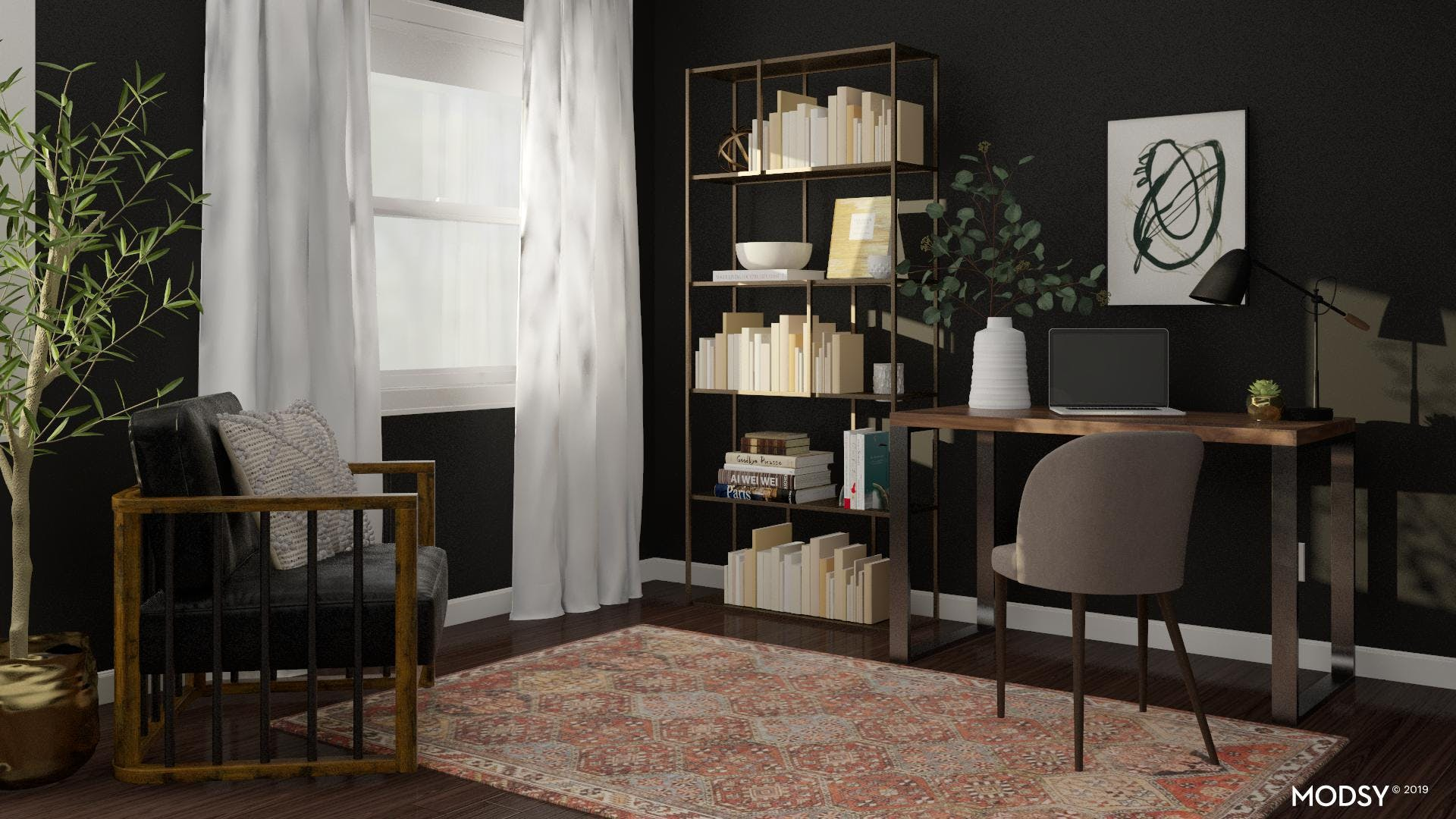Moody And Masculine Industrial Home Office